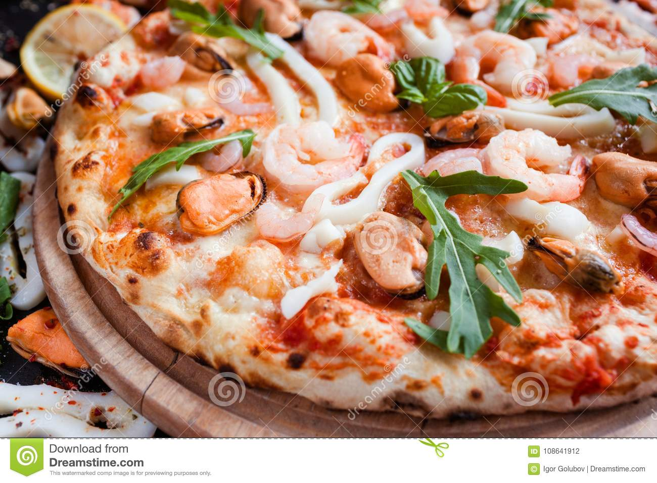 Seafood Pizza Delicious Italian Meal ...