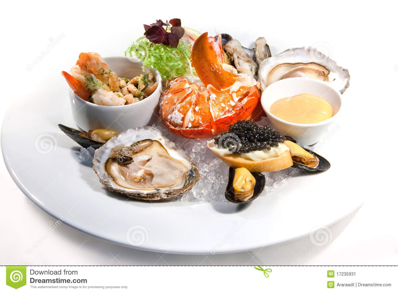 Seafood plate stock image. Image of lobster, healthy - 17235931