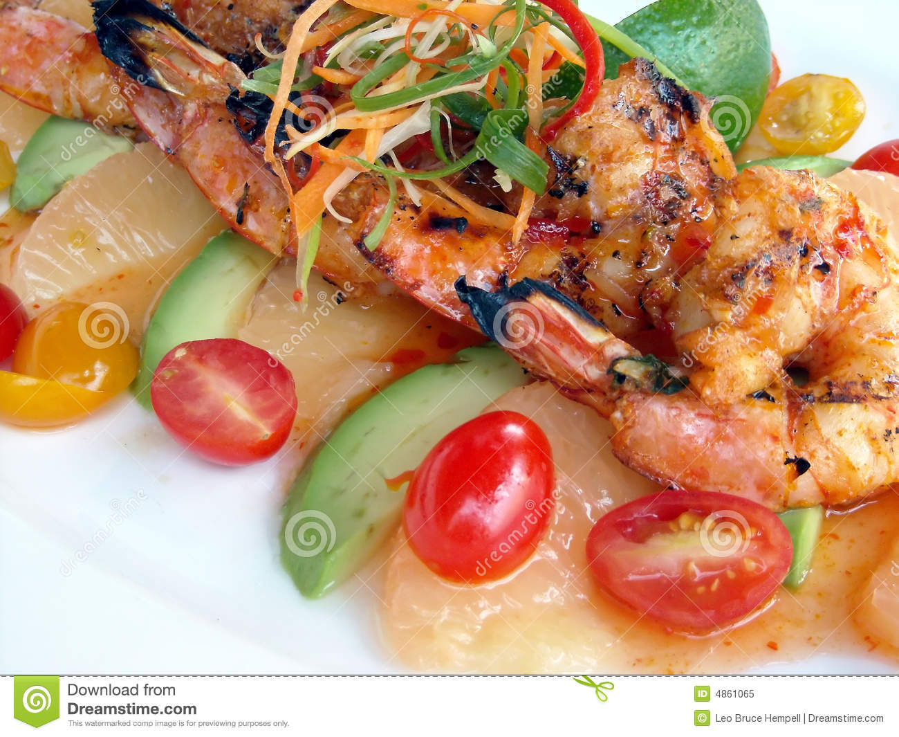 Seafood Plate Stock Image Image Of Shrimp Dining Dinner 4861065