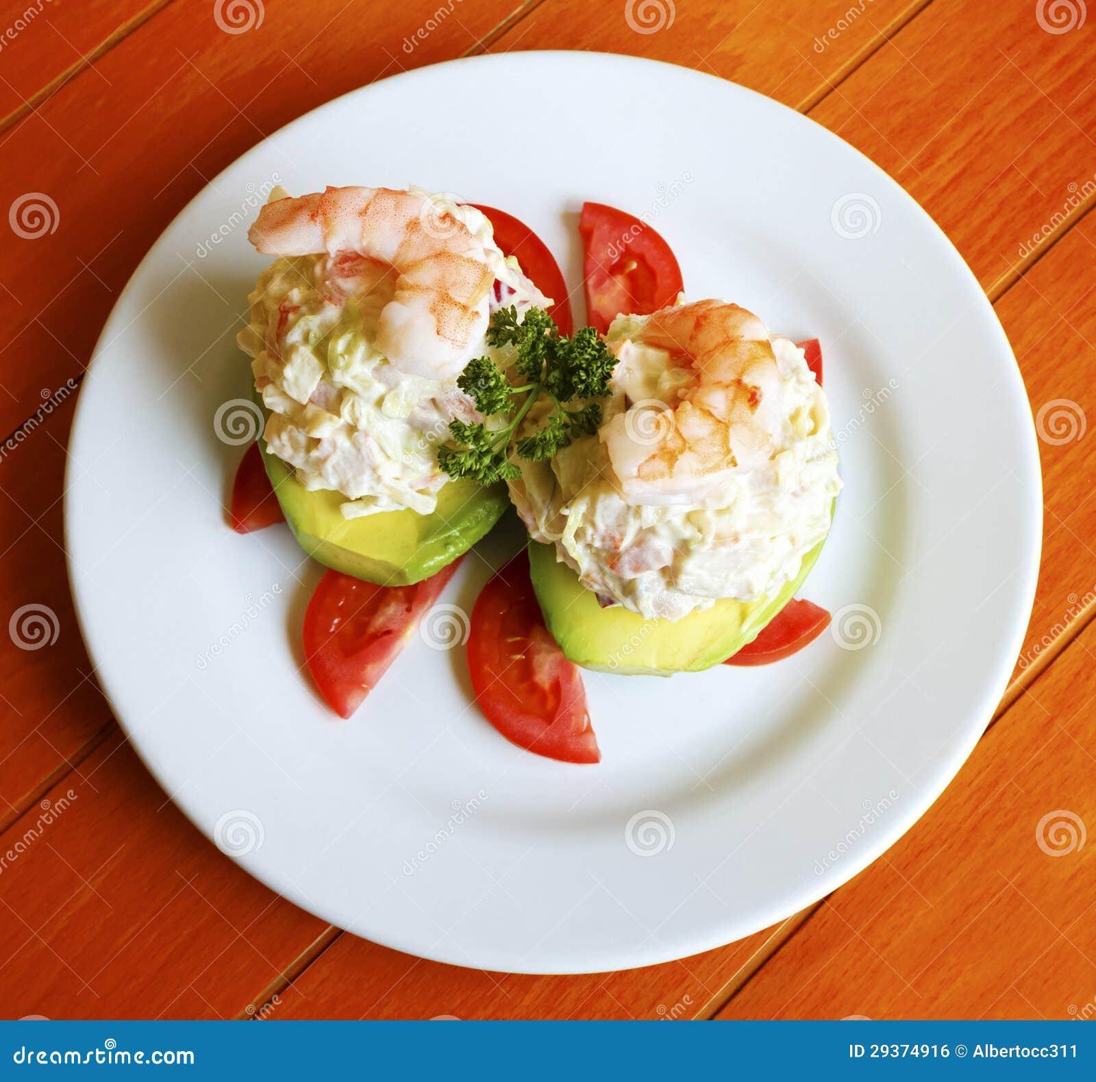 Seafood Stuffed Avocado Royalty Free Stock Image - Image ...
