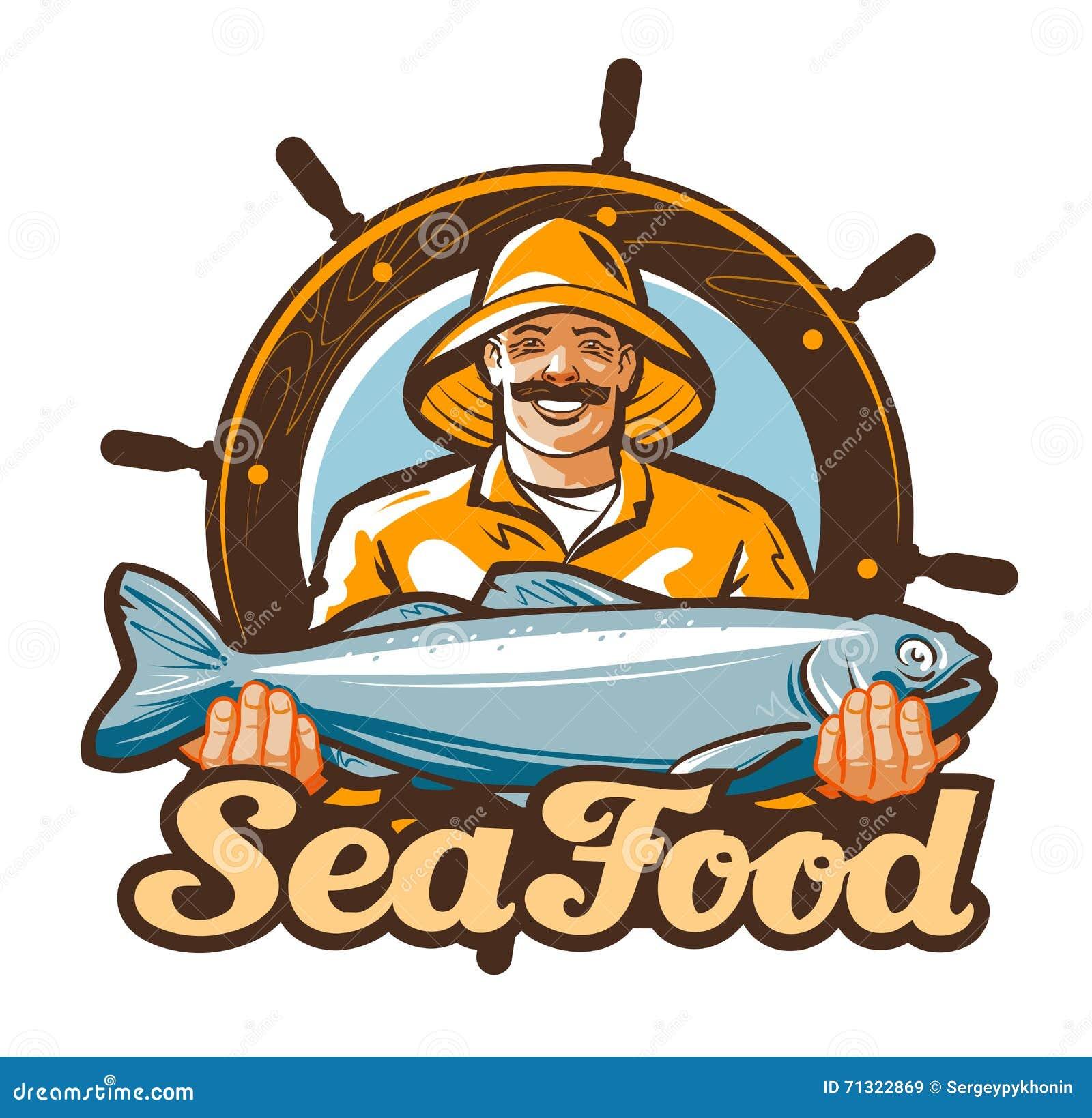 Fishing Vector Logo. Salmon Fish Icon. Vector Illustration ...