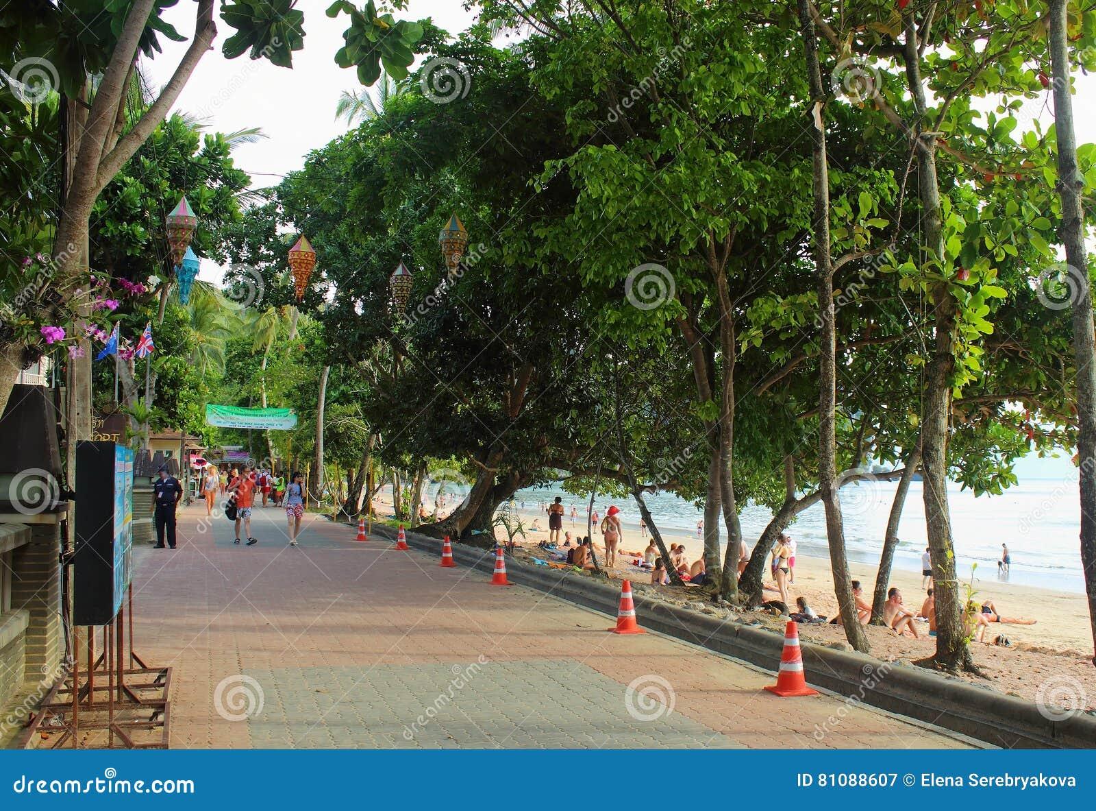 Seafront in Ao Nang, Krabi, Thailand