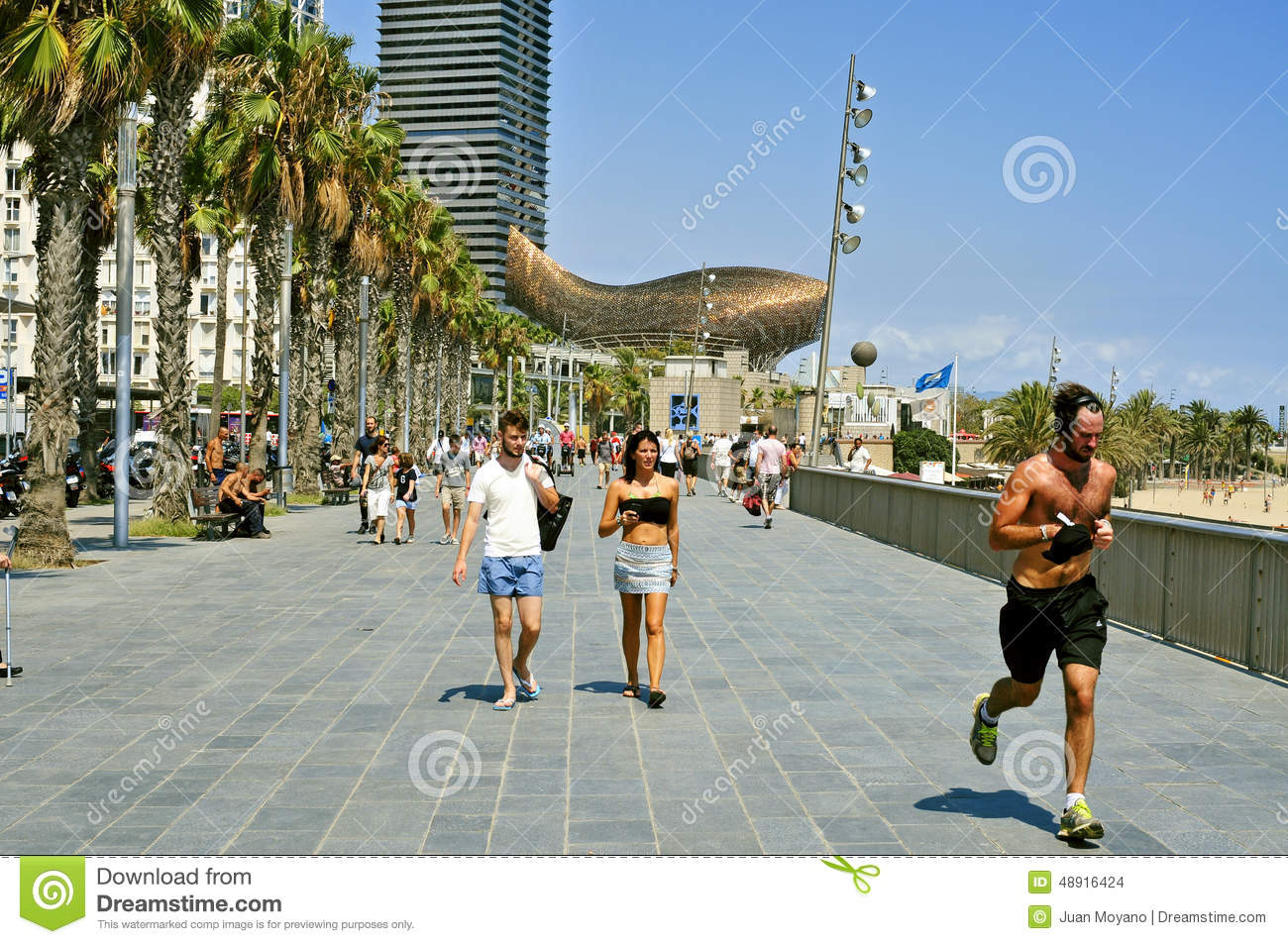 Seafront Of Barcelona, Spain