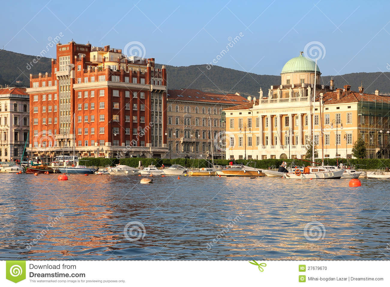 Seafront in Trieste, Italy