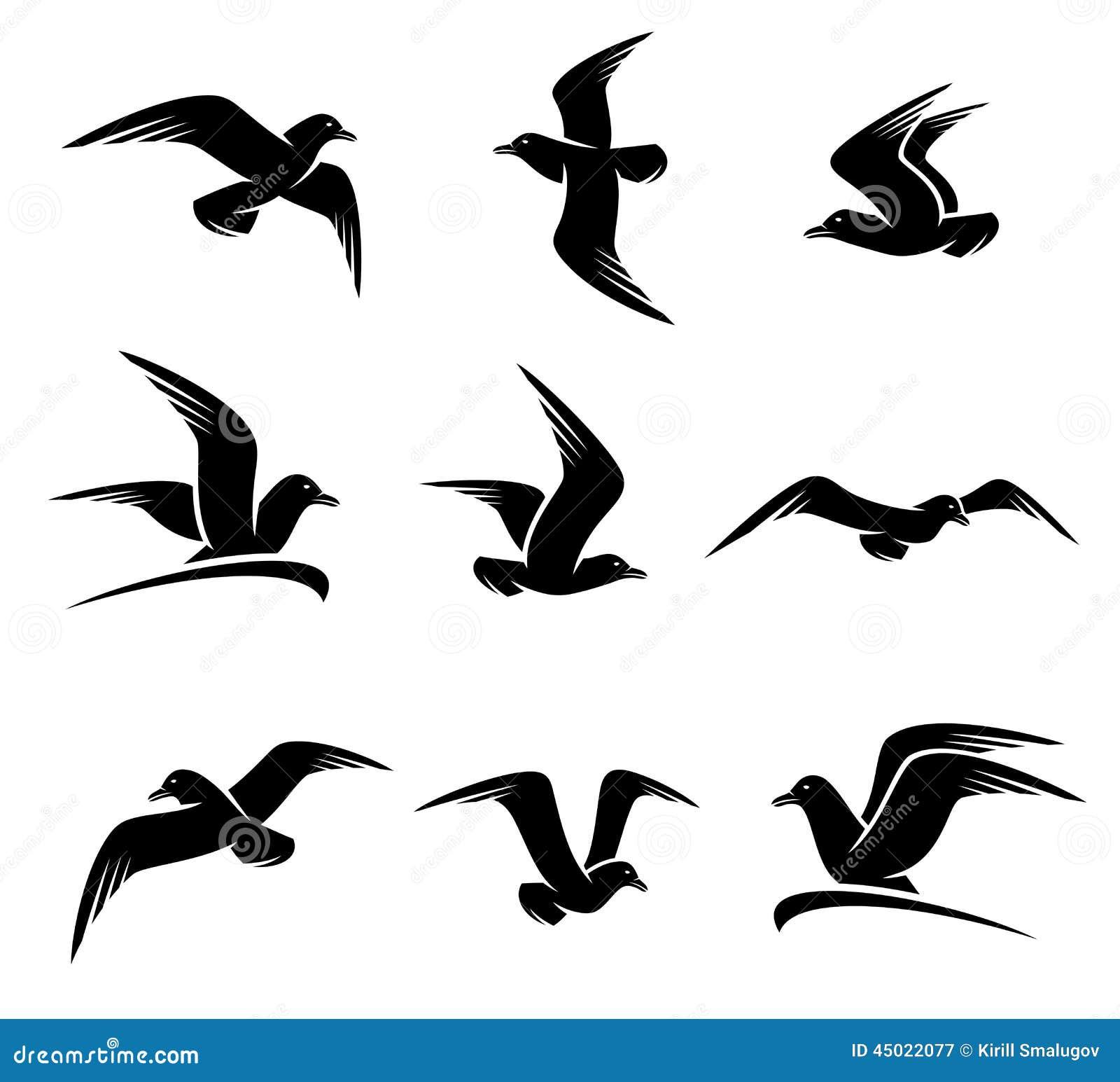 flying seagull stock illustrations u2013 1 218 flying seagull stock