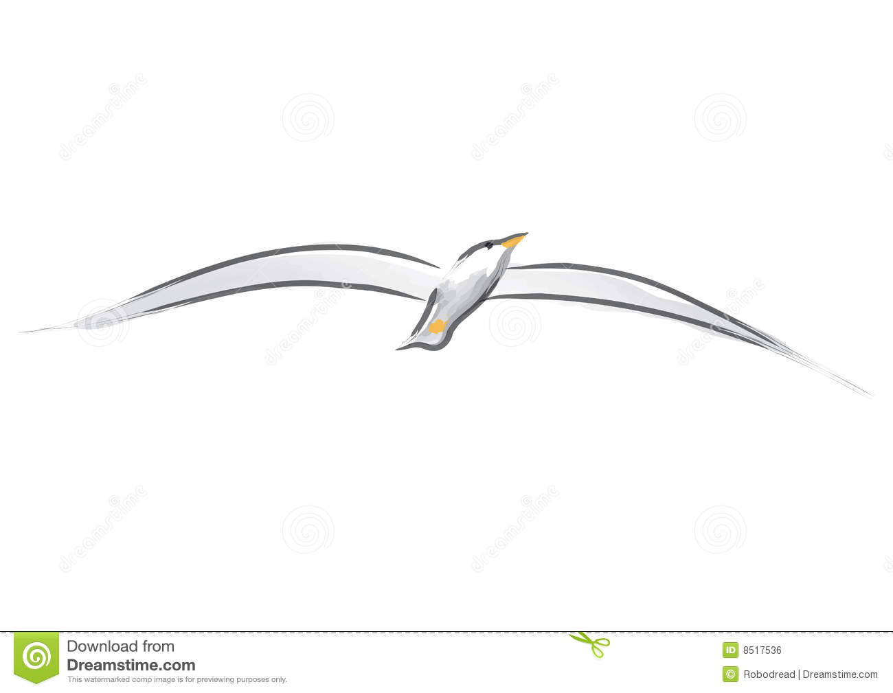 Seagull (vector) Royalty Free Stock Image