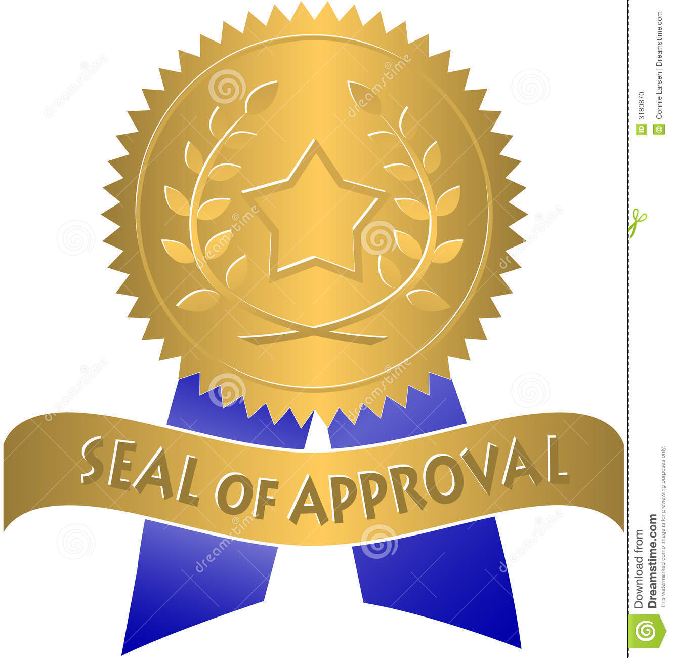 seal of approval eps stock vector illustration of clipart 3180870