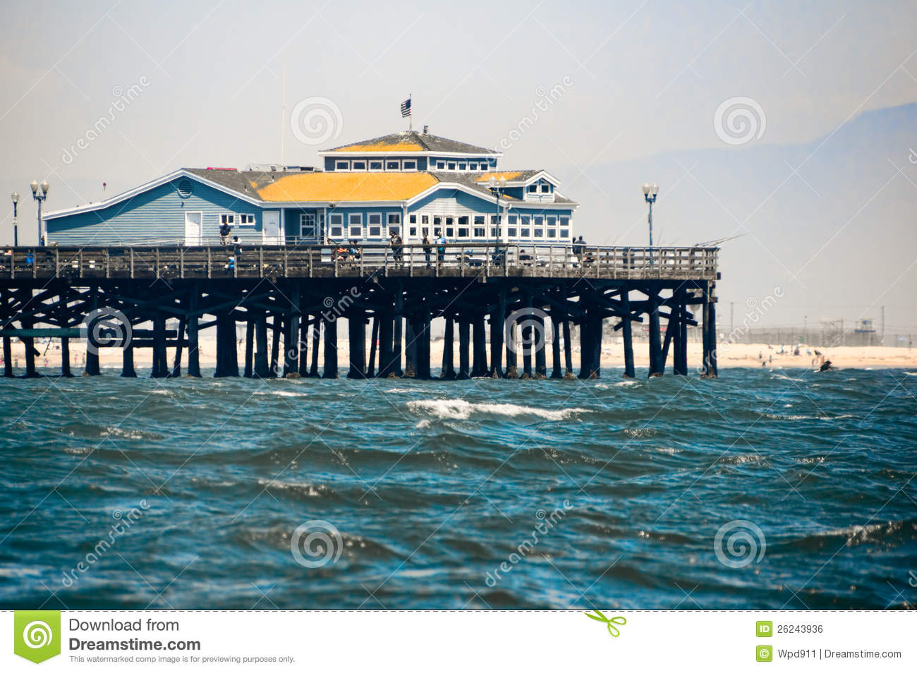 Seal beach pier royalty free stock image image 26243936 for Seal beach fishing