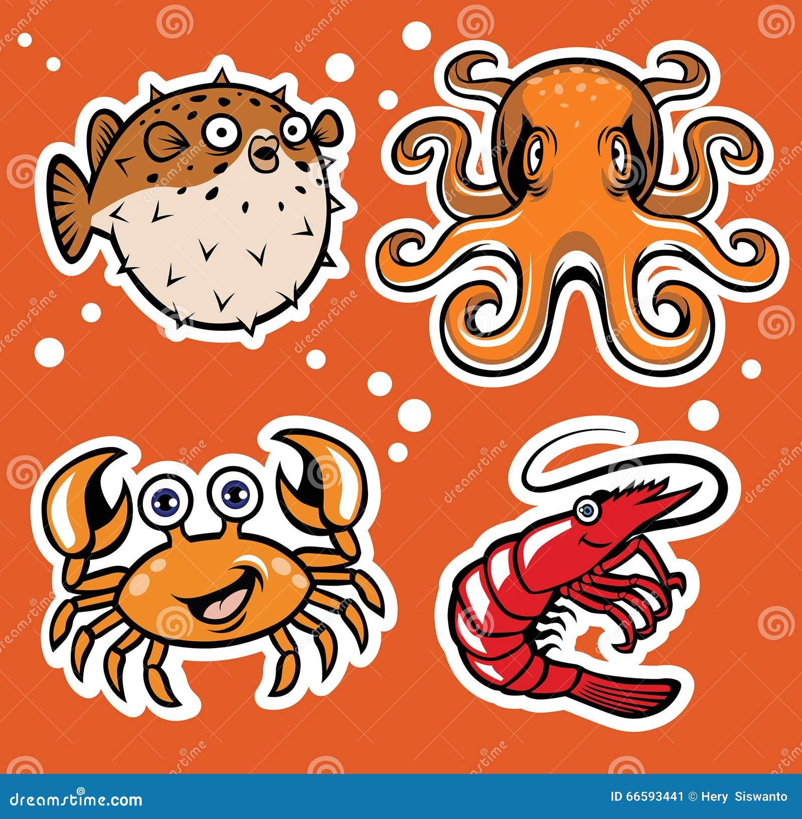 Sealife postać z kreskówki paczka