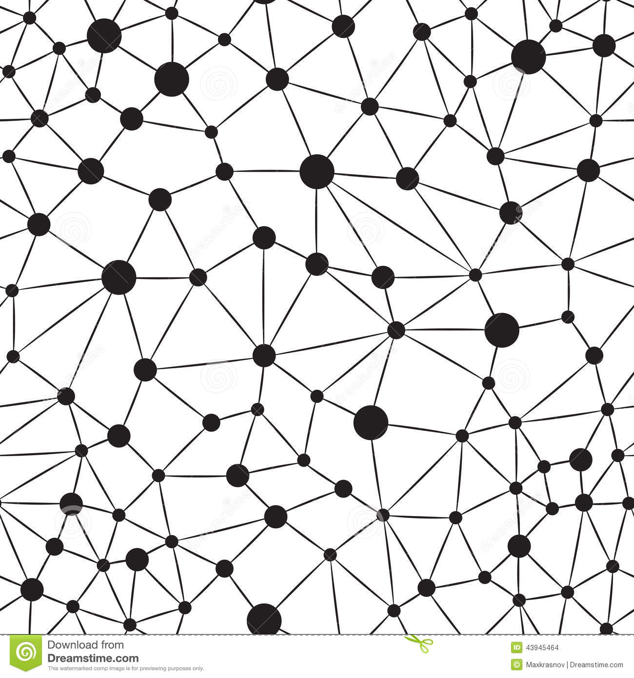 Seamlees Neuron Background Stock Vector - Image: 43945464