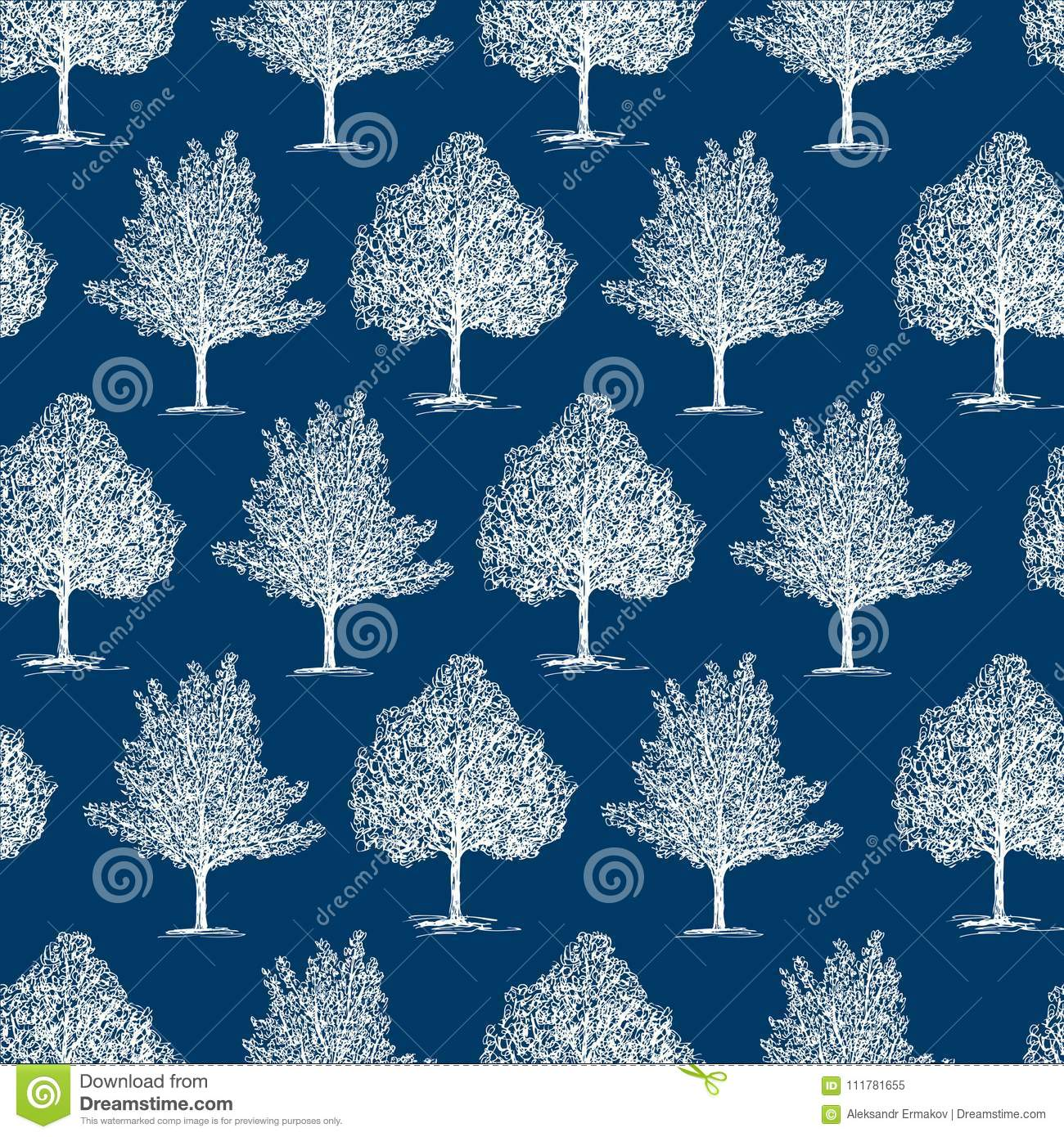 Seamles background of the frozen trees