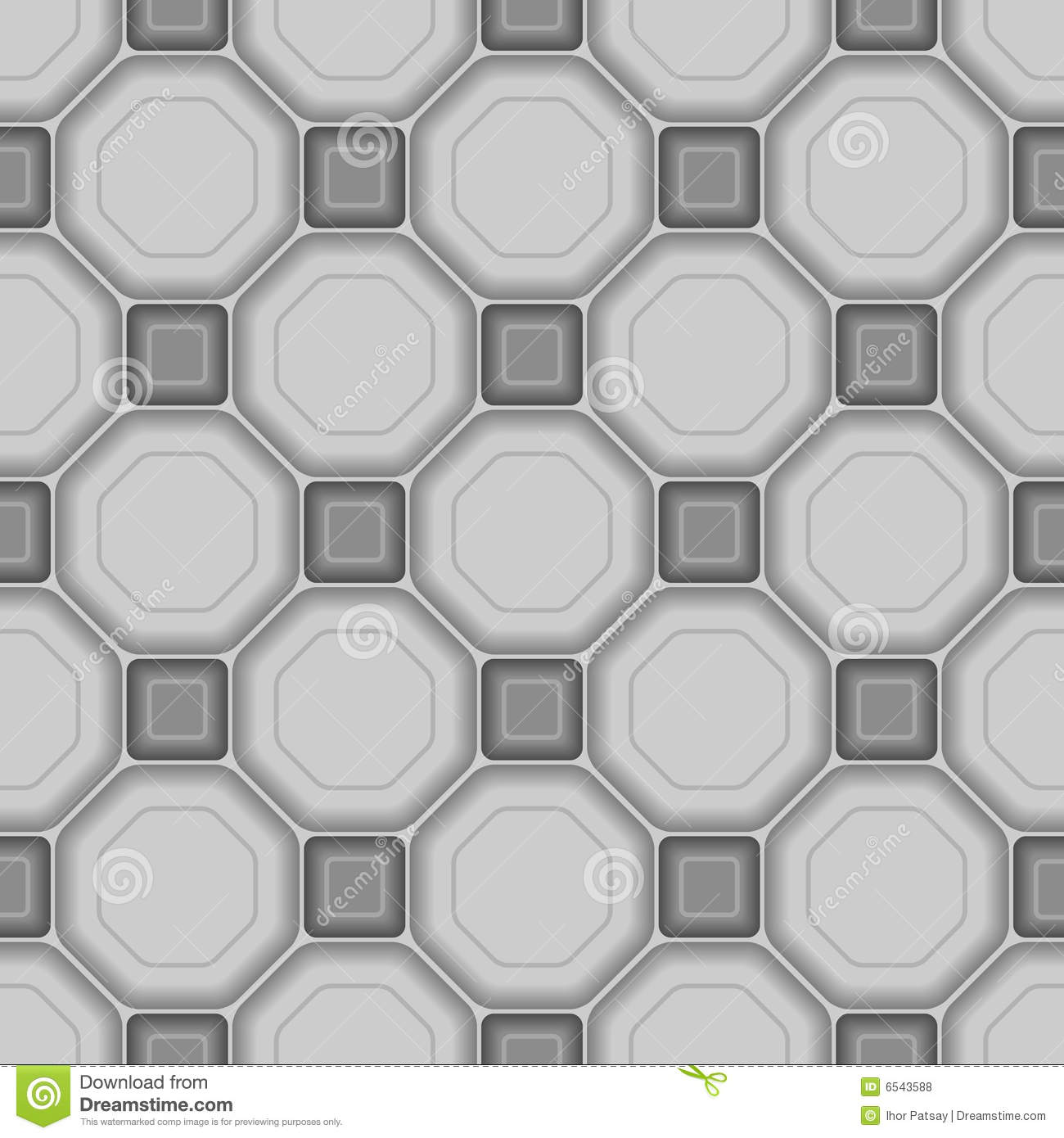 Seamless 3d tile pattern stock vector. Image of grid, image - 6543588