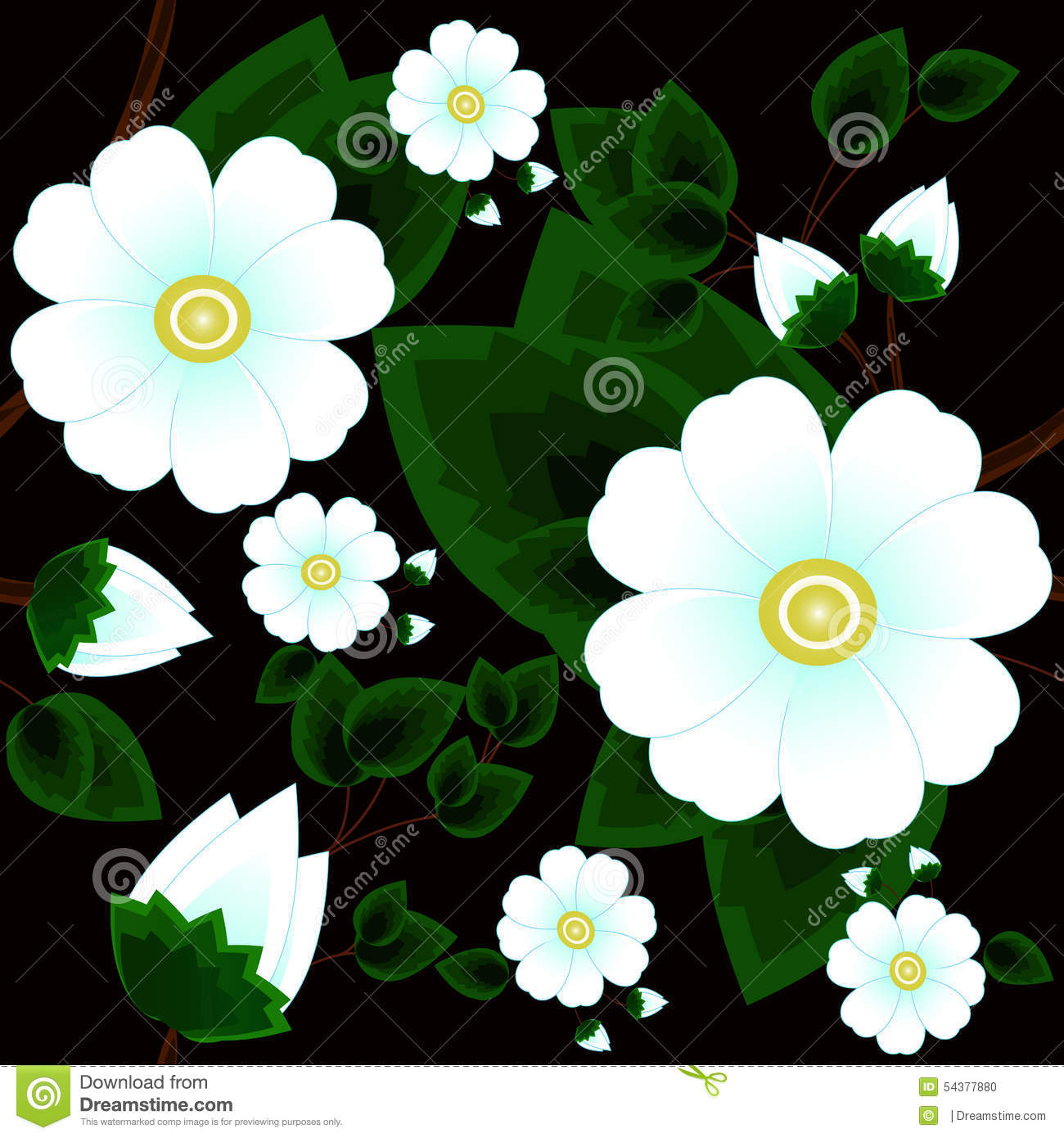 abstract beautiful white flowers - photo #5