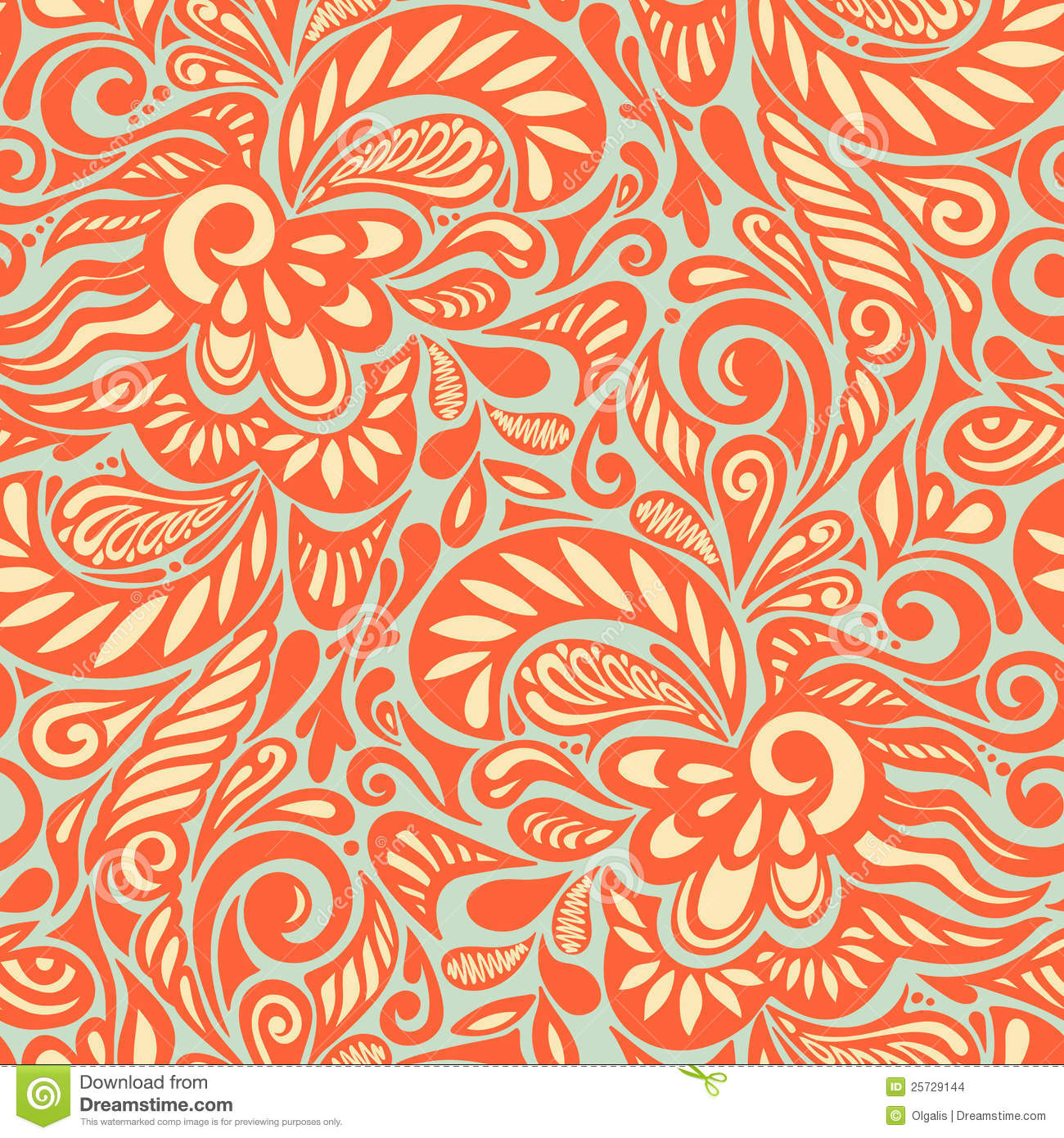 Effective? Free abstract floral pattern
