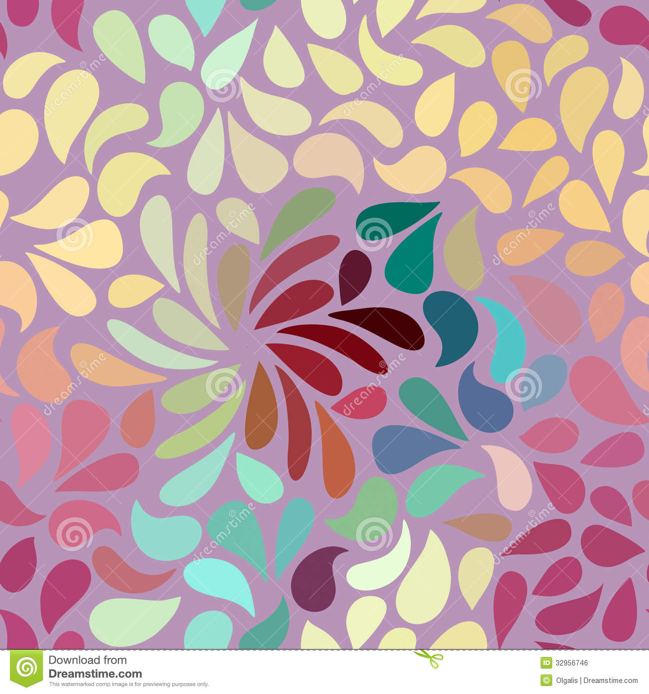 seamless abstract floral pattern stock illustration illustration