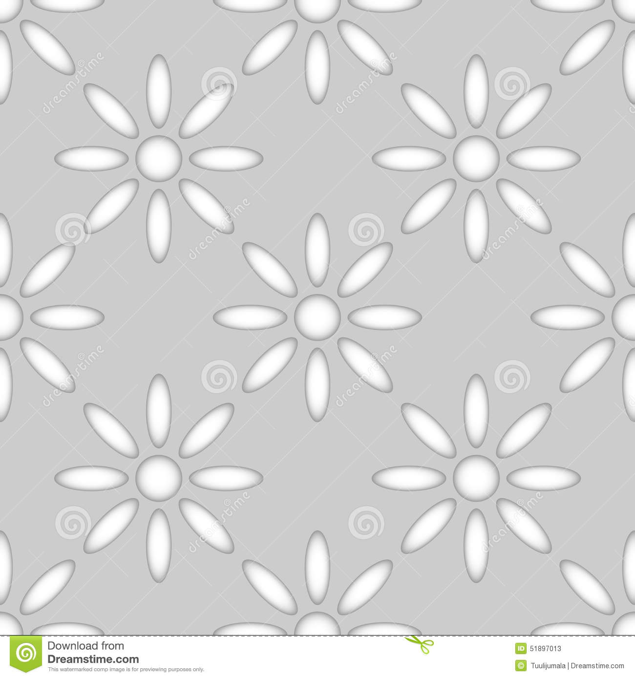 Seamless Abstract Flower Pattern Stock Vector Illustration Of