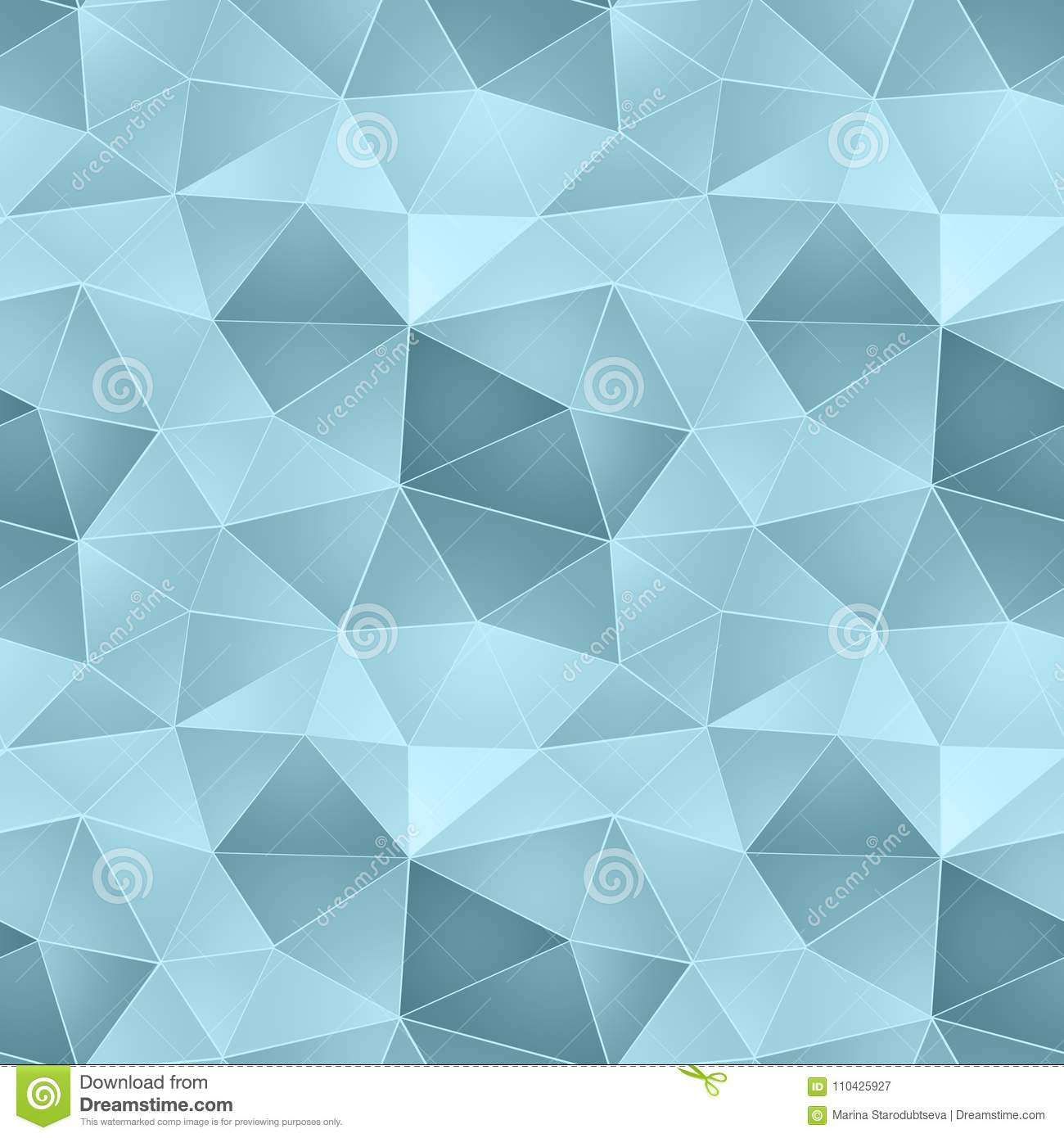 Seamless Abstract Geometric Pattern Blue Light Blue