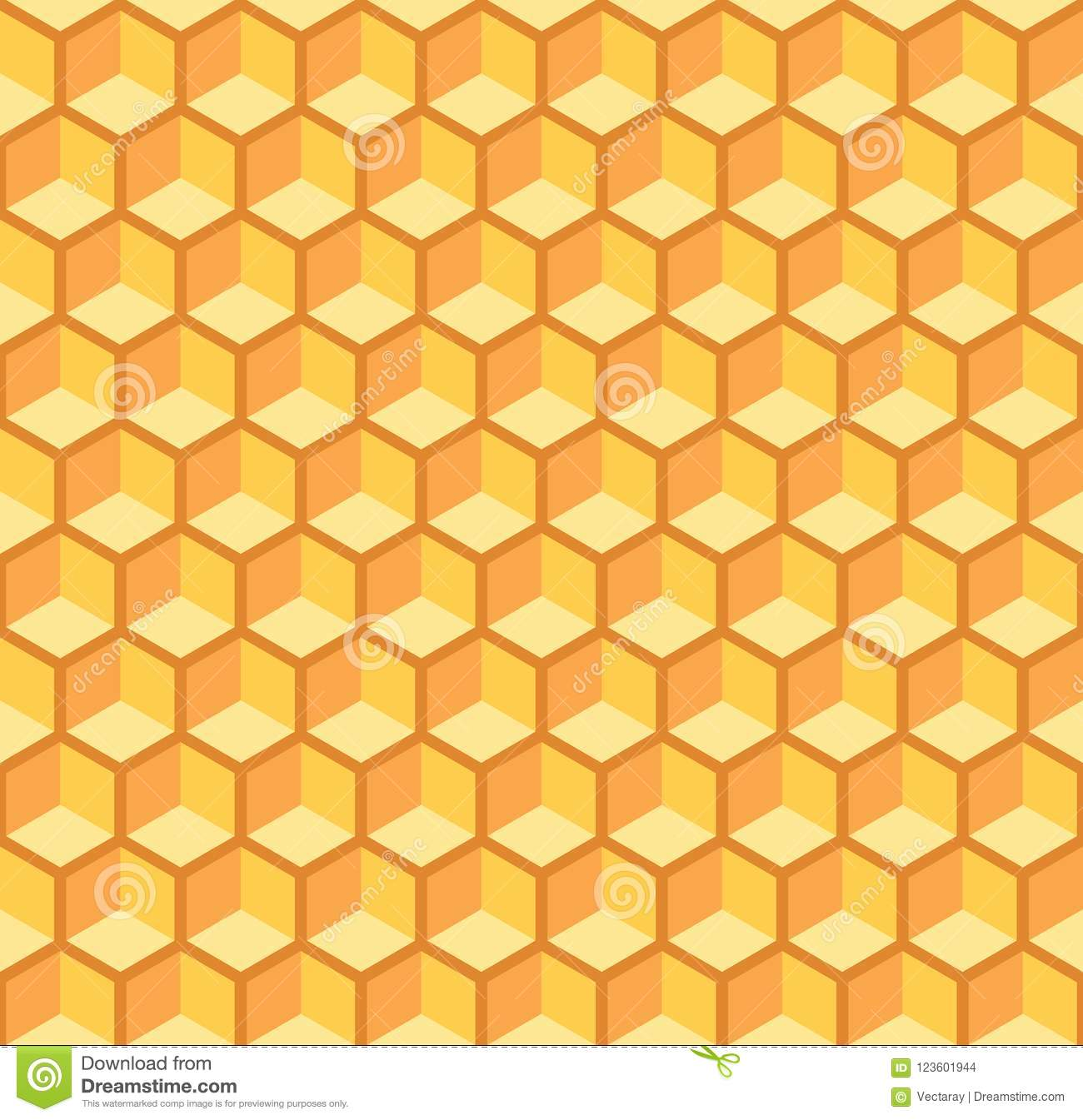 Seamless Abstract Honeycomb Pattern Background. Ideal For