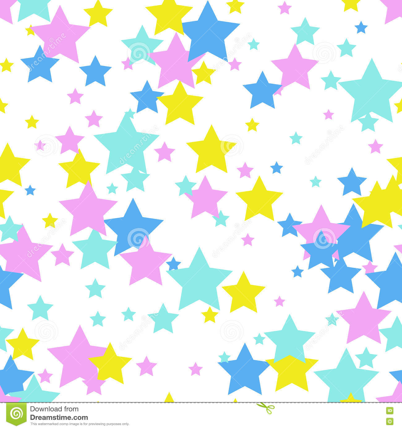 seamless abstract pattern with stars memphis style 80th