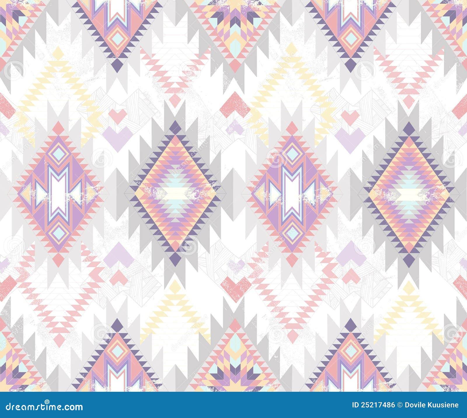 Seamless abstrakt aztec geometrisk modell