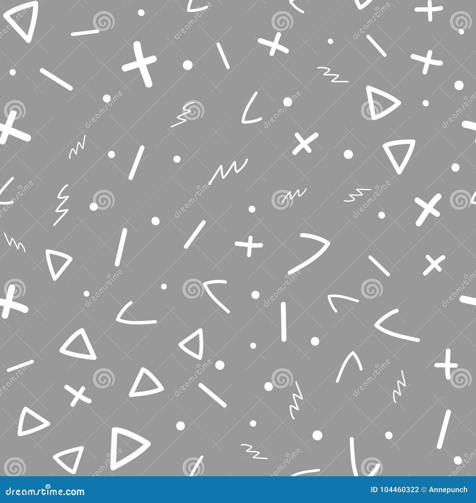 Seamless abstrakt geometrisk modell Skissa, klottra, klottra