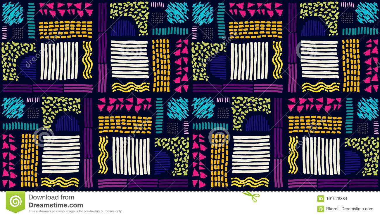 Seamless African pattern. Ethnic pattern on the carpet.
