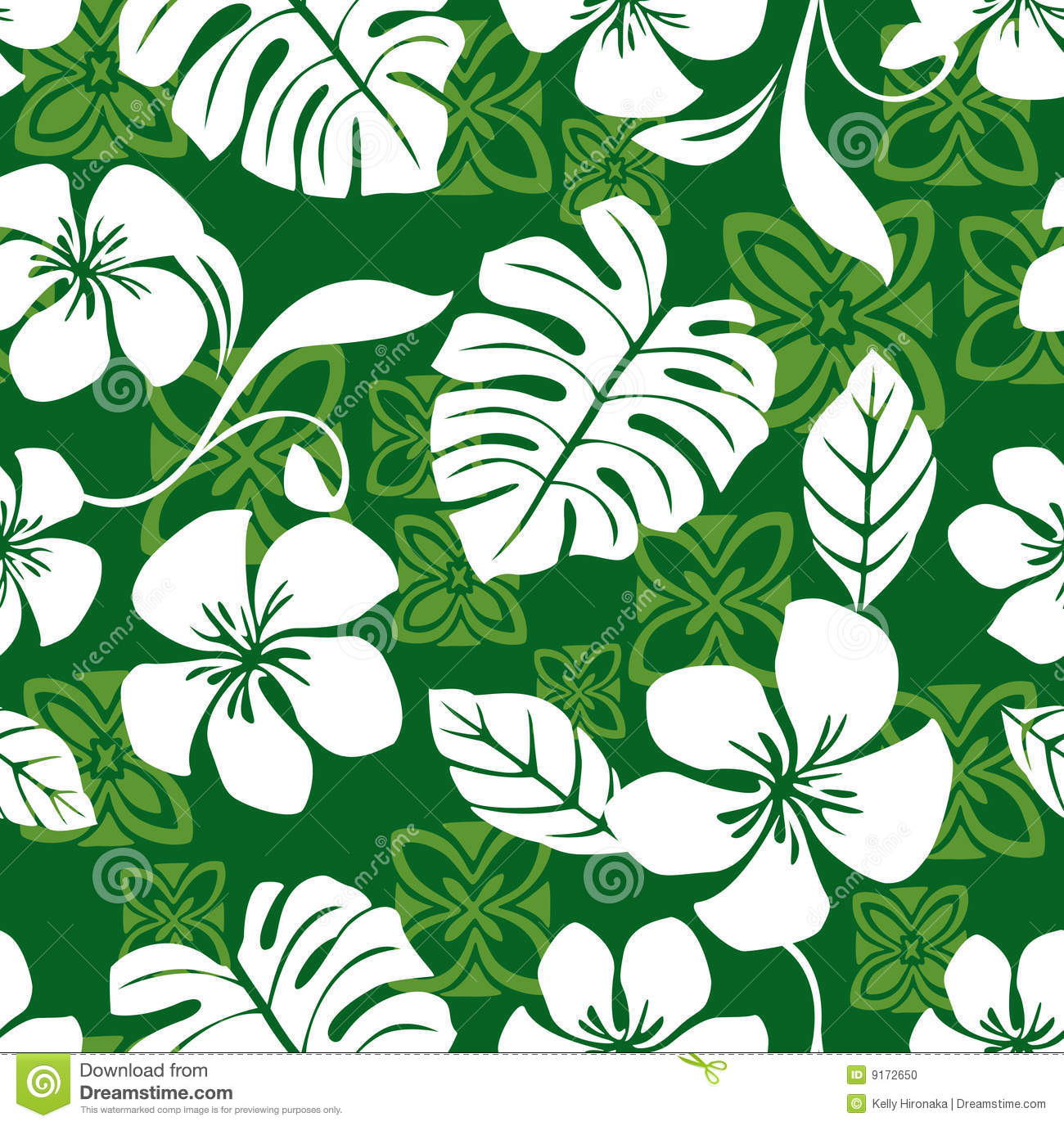 Seamless Aloha Friday Hawaiian Shirt Pattern Stock Vector