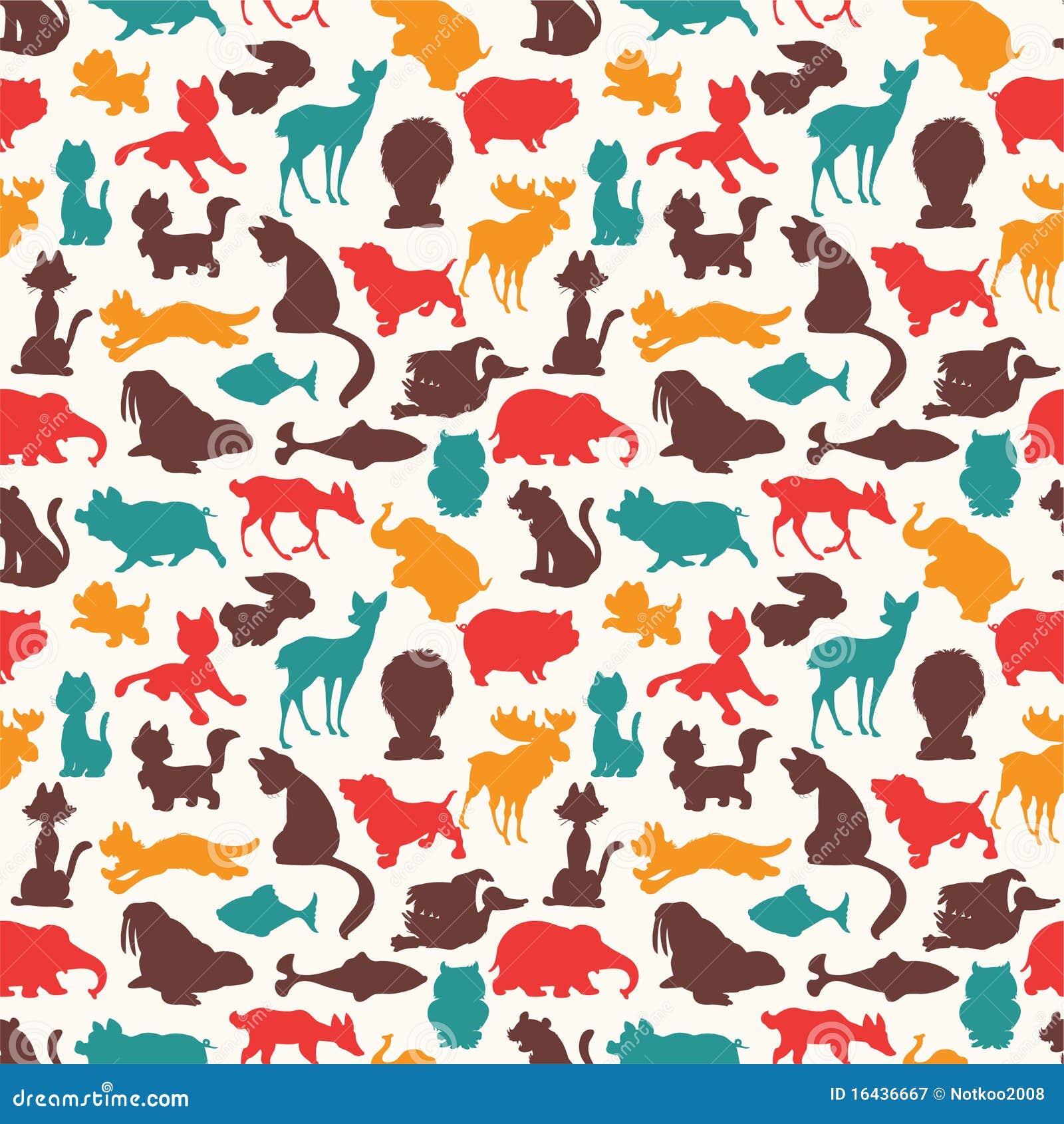 Seamless Animal Pattern Royalty Free Stock Photography