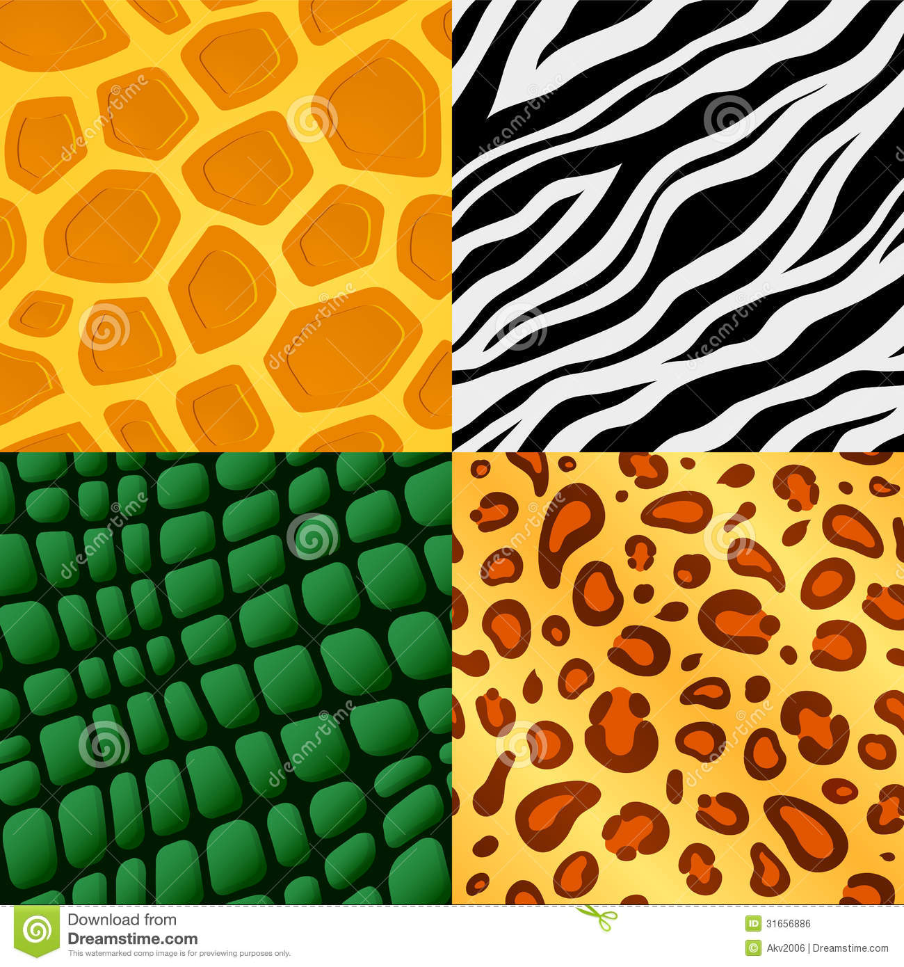 Seamless Animal Skin Pattern Royalty Free Stock Image Image 31656886
