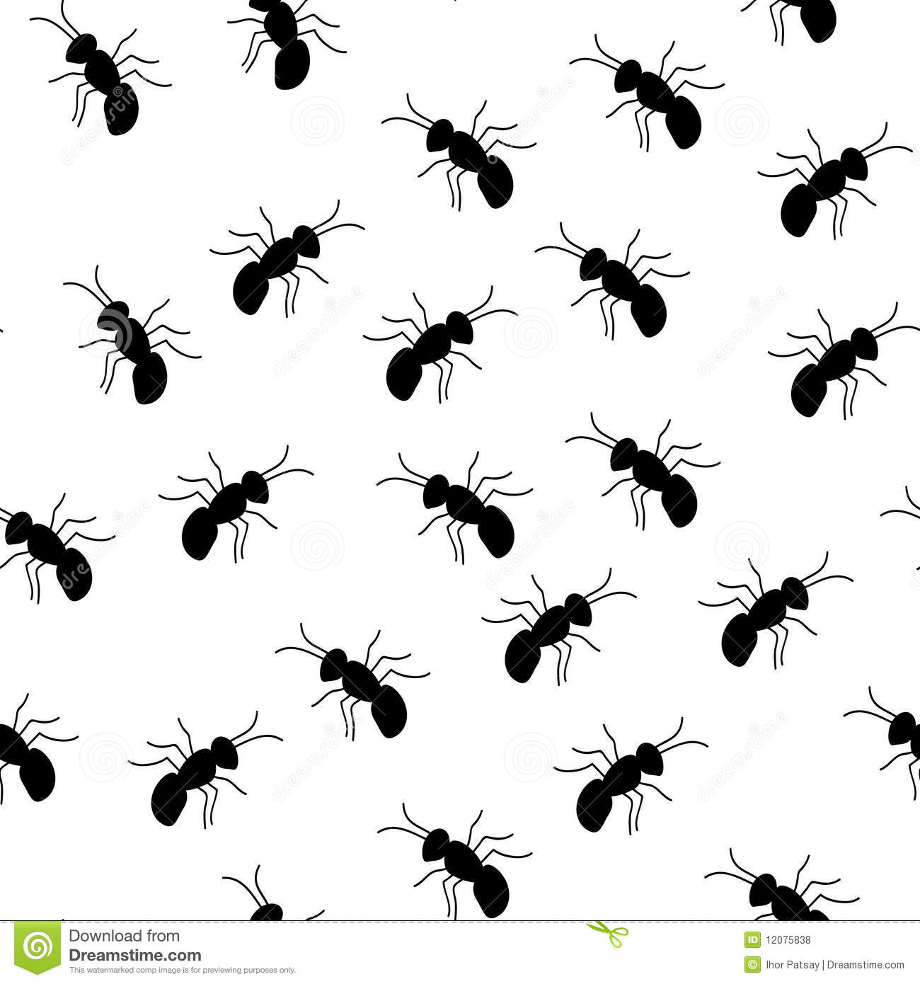 Seamless Ant Pattern Royalty Free Stock Photos Image 12075838