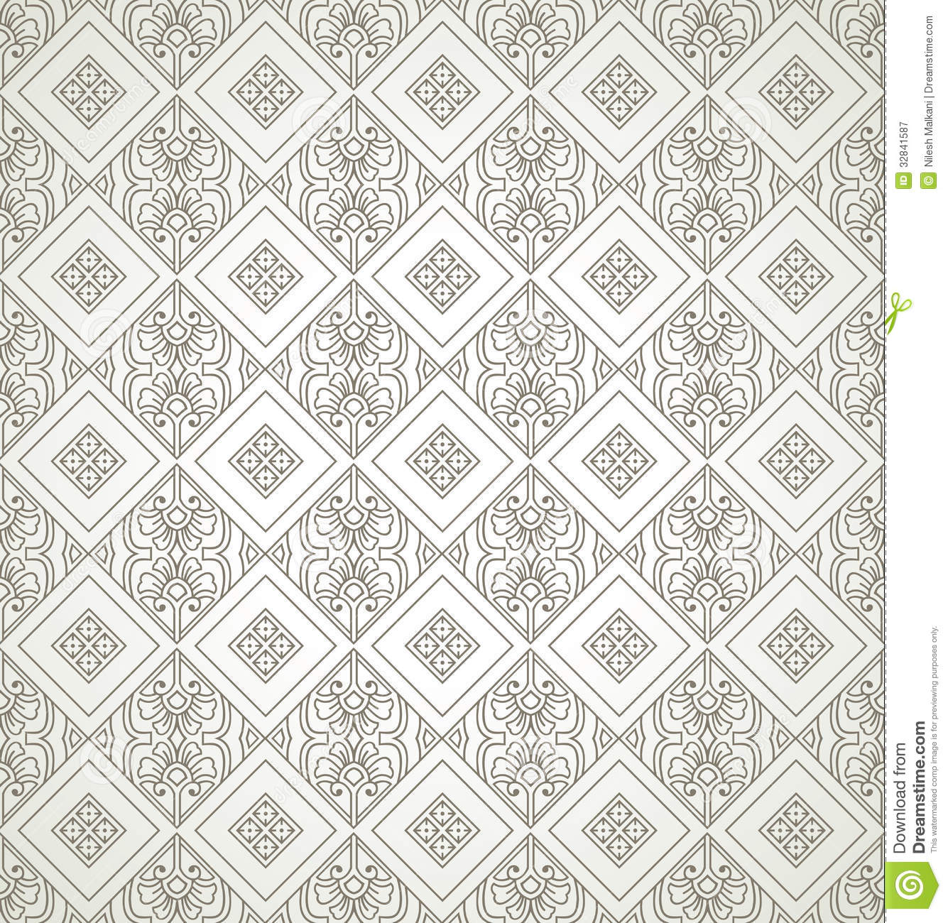 Royalty Free Stock Photography: Seamless antique look wallpaper
