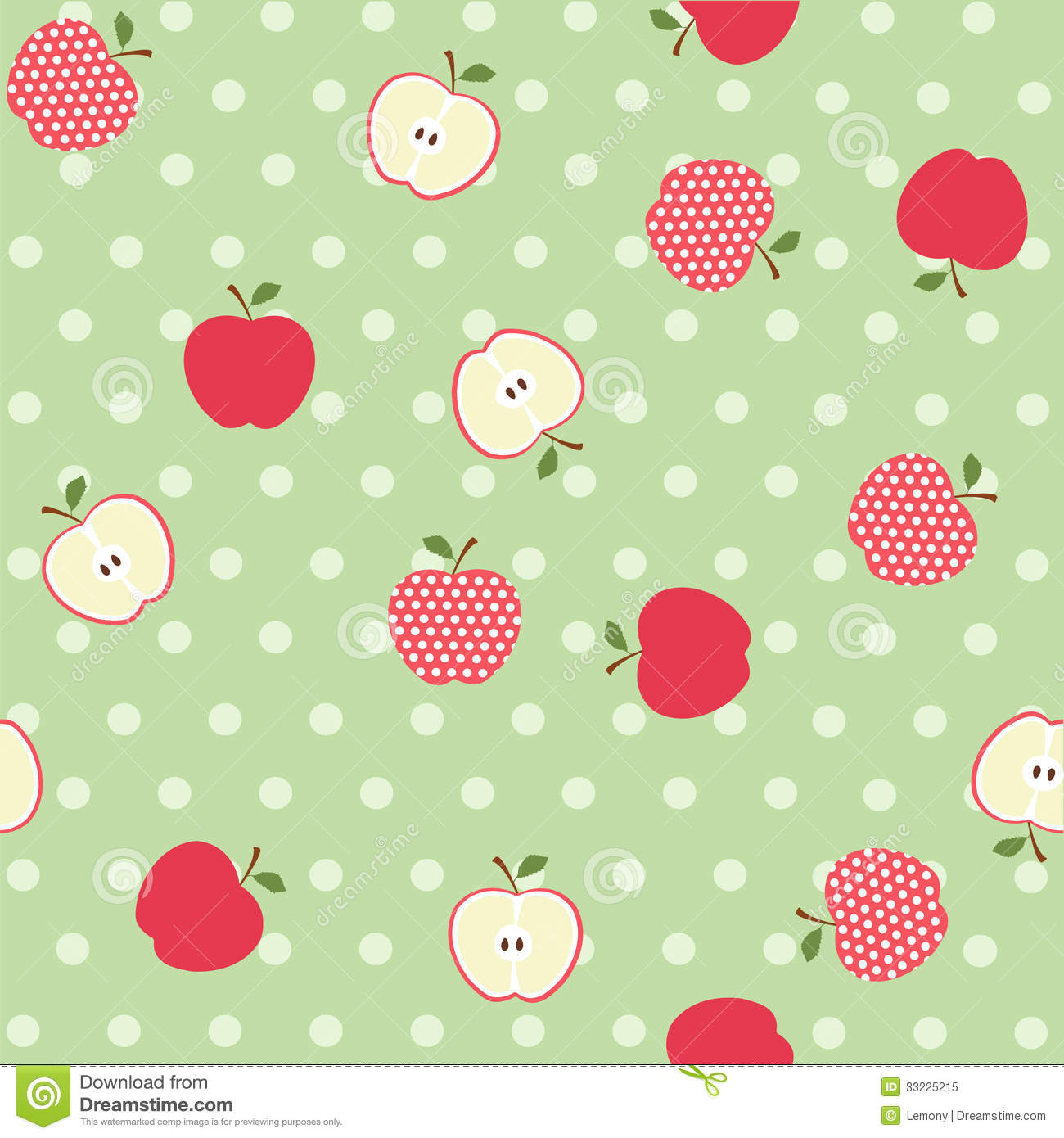 seamless apple background stock vector. illustration of color - 33225215