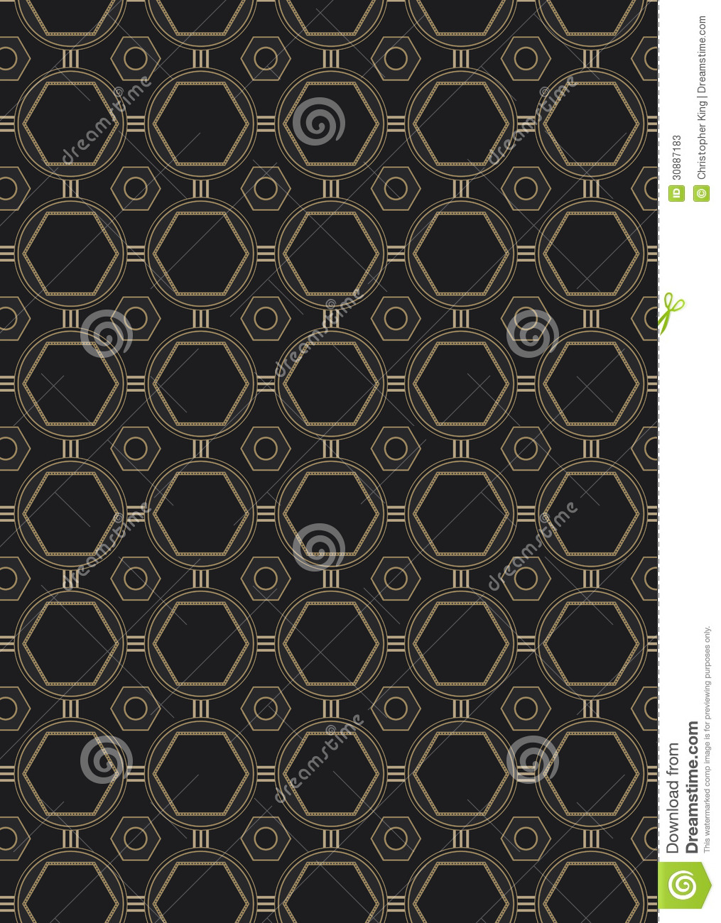 Seamless art deco style pattern stock vector image 30887183 for Art deco look