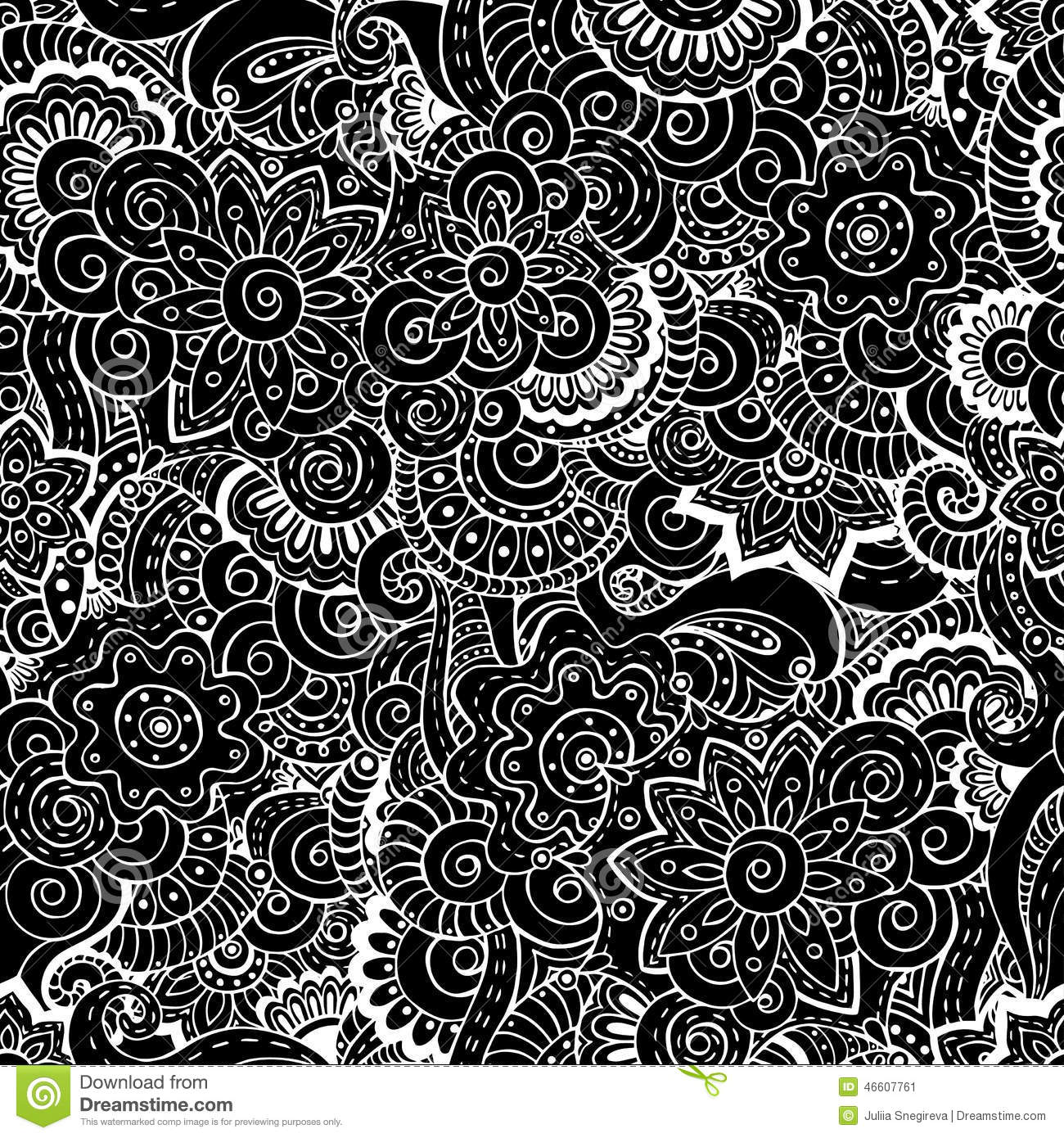 seamless asian floral retro background pattern stock vector