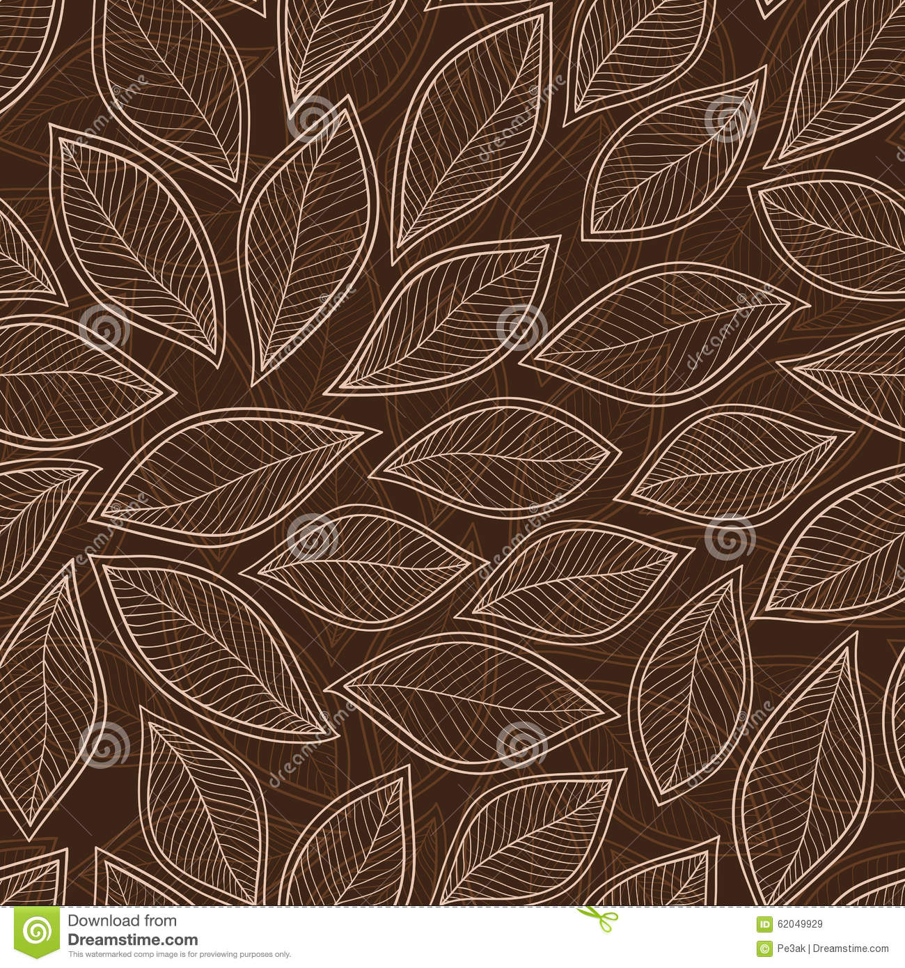 seamless autumn leaf pattern background vector