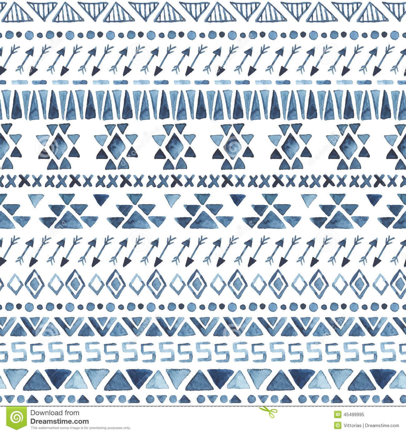 Seamless Aztec Pattern. Stock Vector. Illustration Of