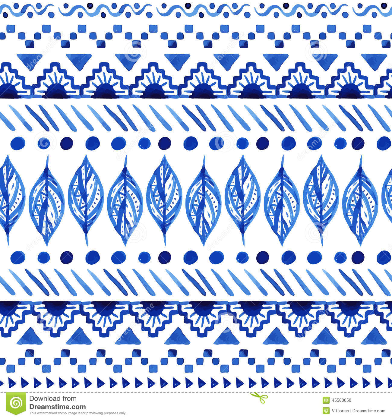 Seamless Aztec Pattern. Stock Vector