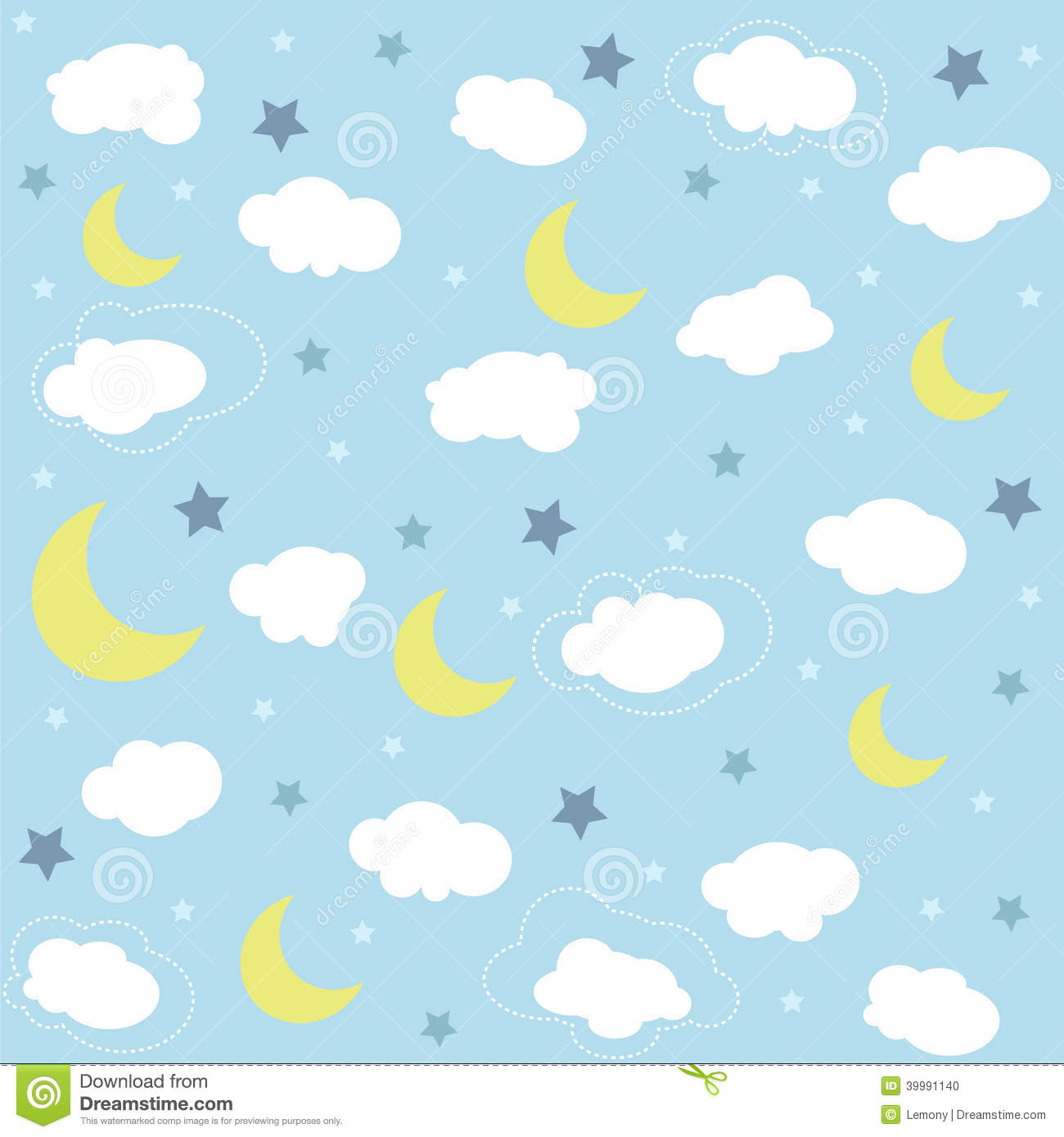 Seamless Baby Pattern Wallpaper Stock Vector