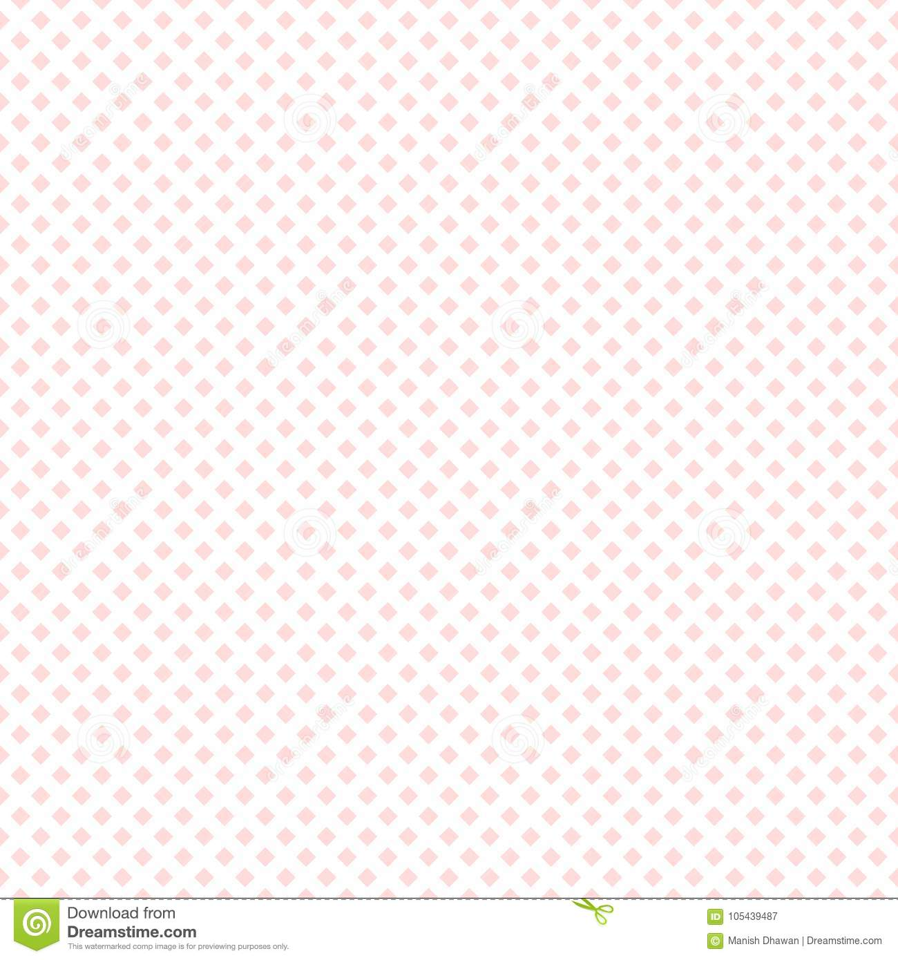 Seamless Baby Pink Small Boxes On White Background For
