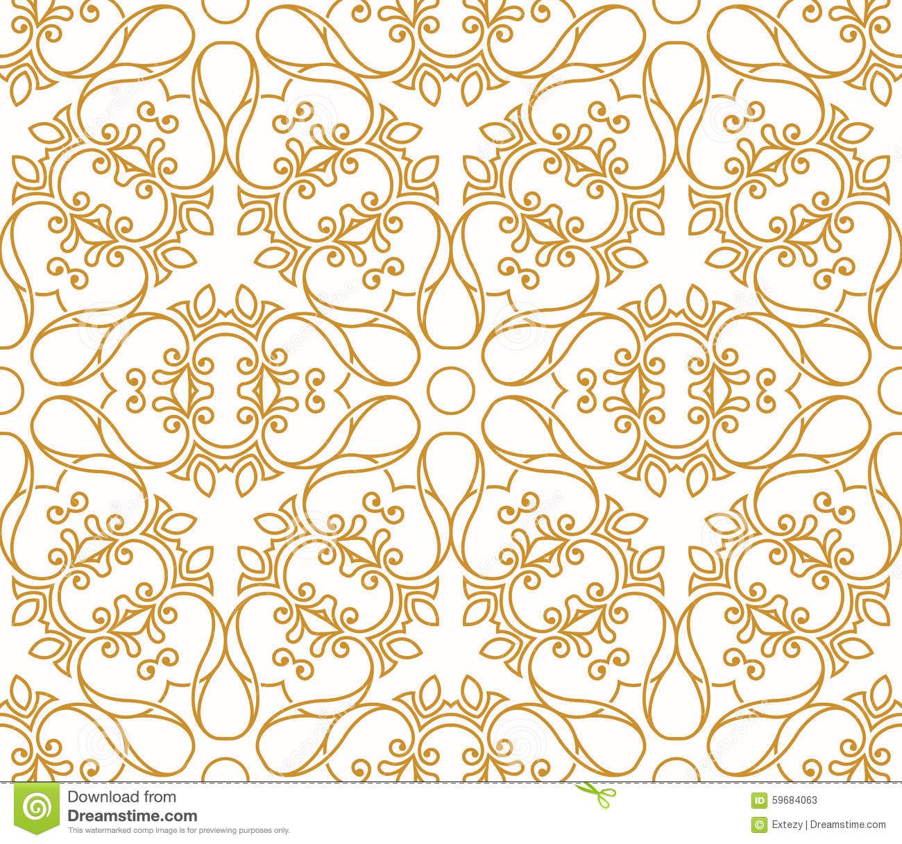Seamless background in arabic style stock vector image for Arabic decoration style