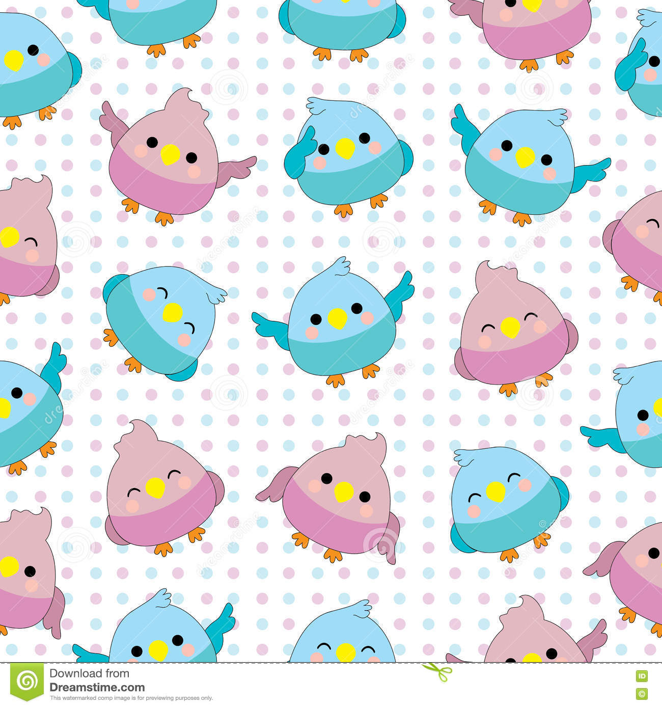 seamless background of baby shower illustration with cute