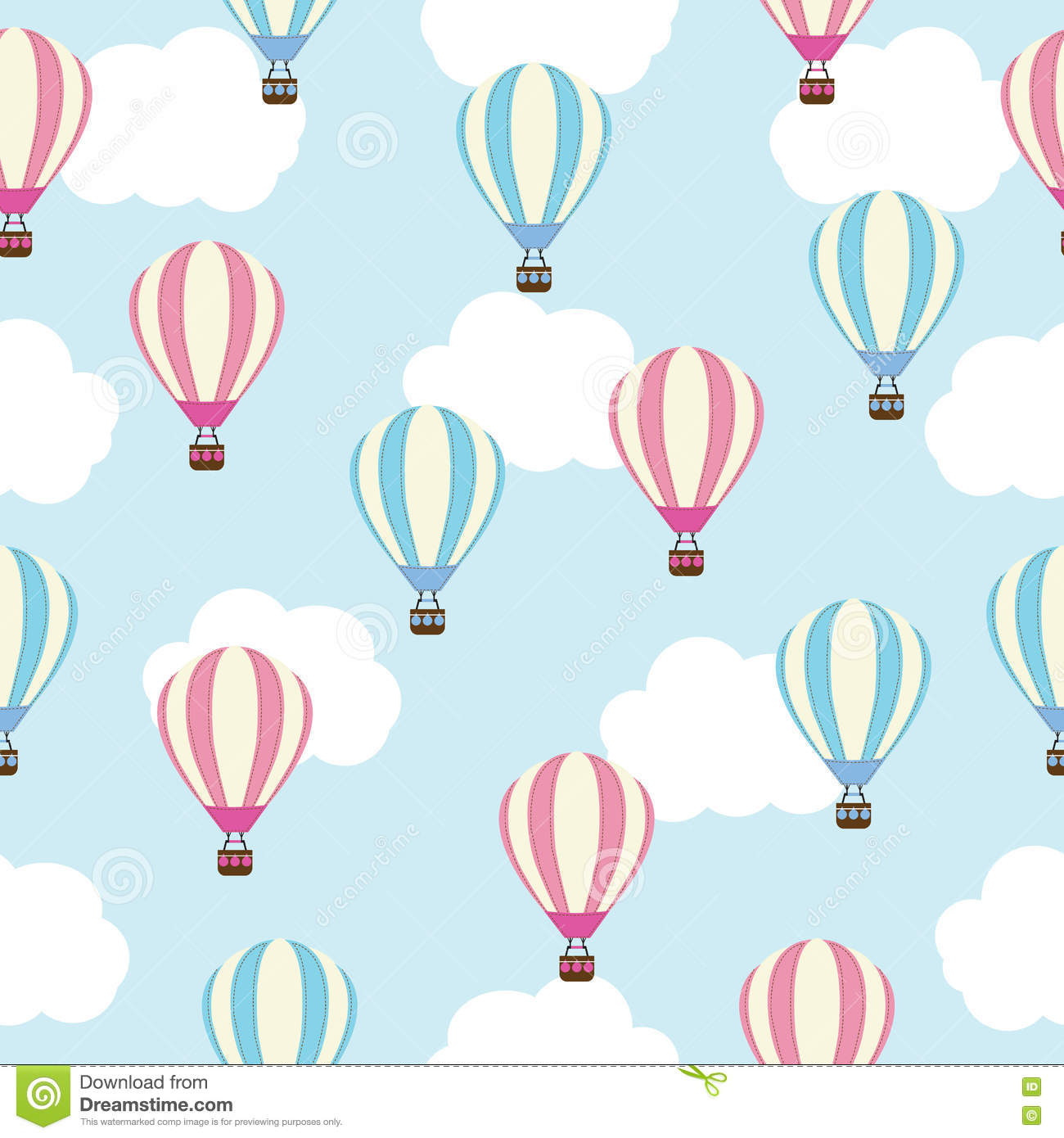 Air Baby Background Balloon Blue Hot Illustration Paper Scrap Seamless  Shower Sky Wallpaper ...