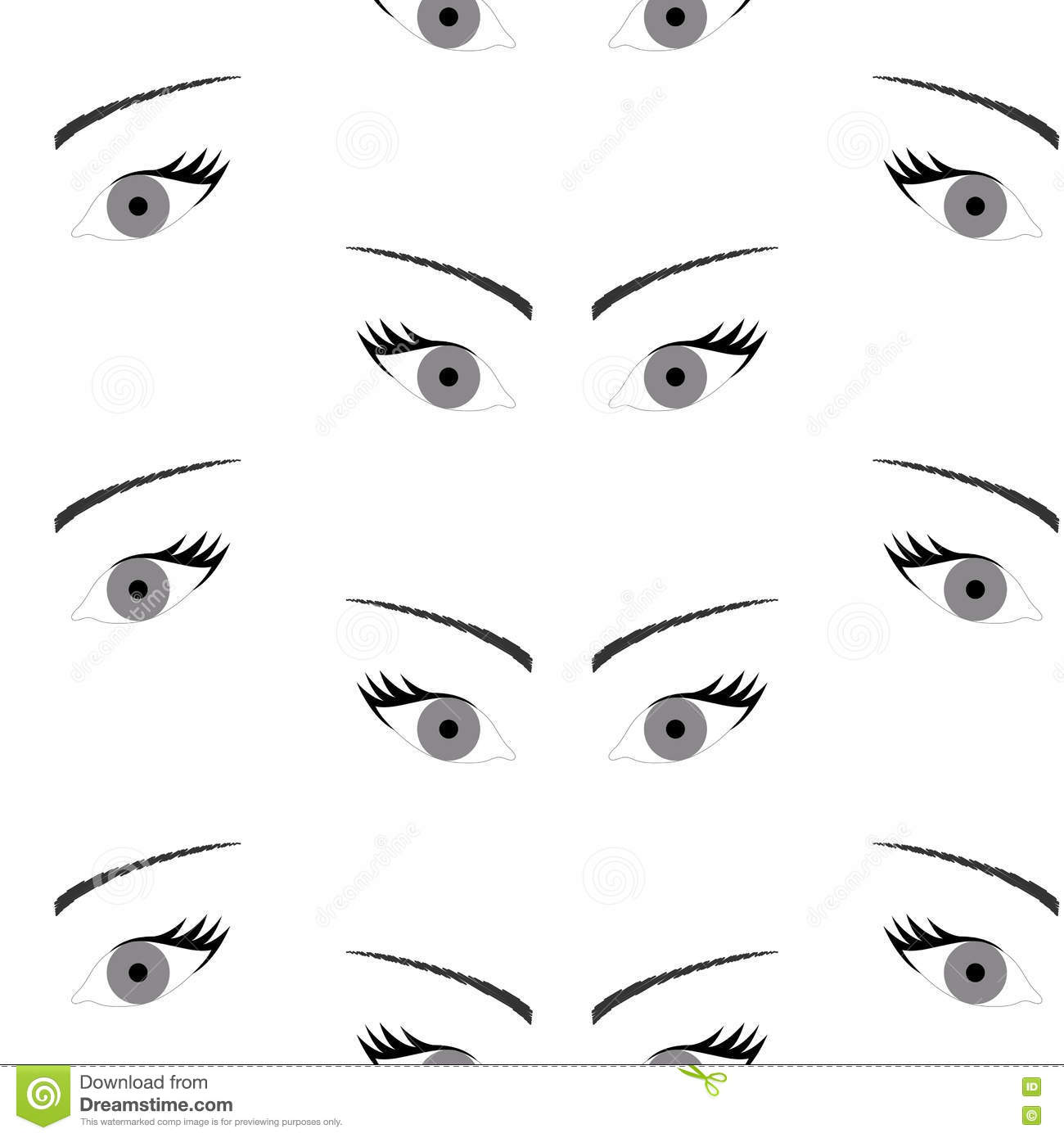 Seamless background with beautiful eyes endless eye pattern stock download seamless background with beautiful eyes endless eye pattern stock vector illustration of human ccuart Images