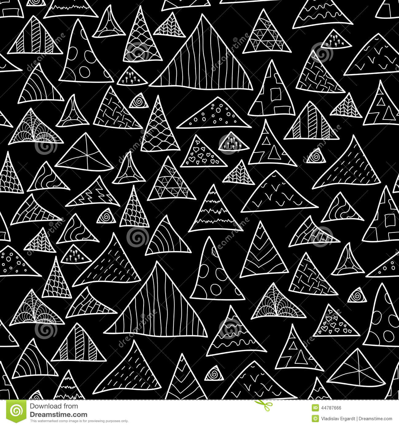 Seamless Background, Black And White Hipster Stock Vector ...