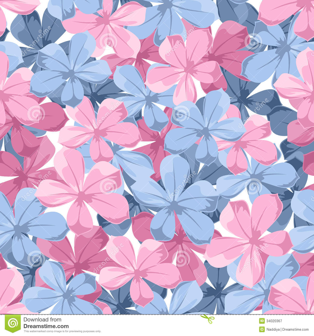 Seamless background with blue and pink flowers stock vector seamless background with blue and pink flowers mightylinksfo