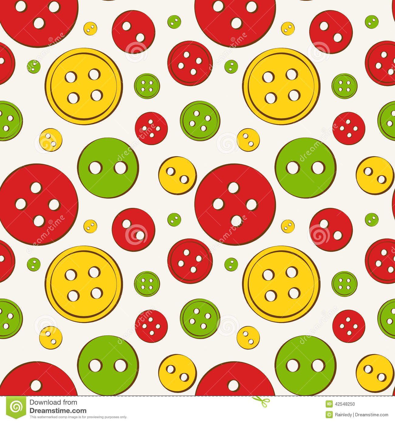 Seamless background with buttons. Vector illustration.