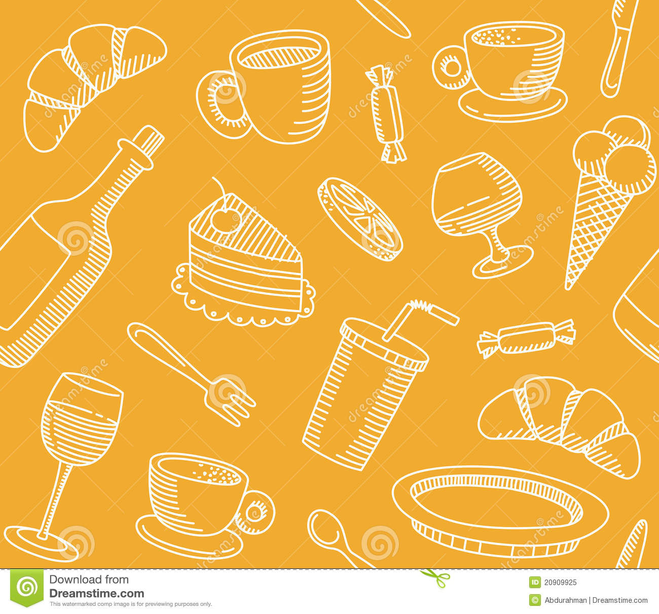 Seamless Background That A Cafe Theme Royalty Free Stock Photo - Image ...