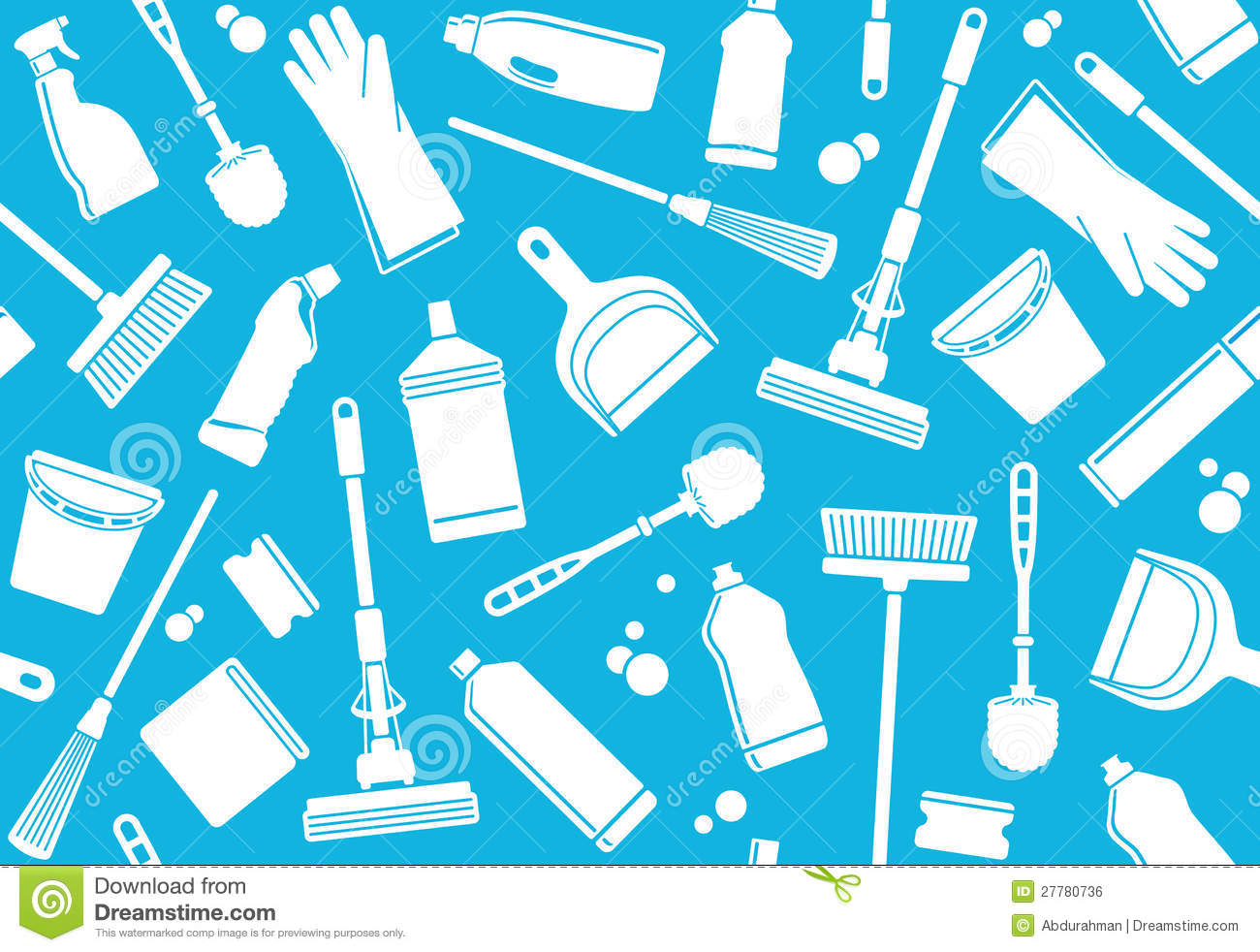 Seamless Background Of Cleaning Royalty Free Stock Image