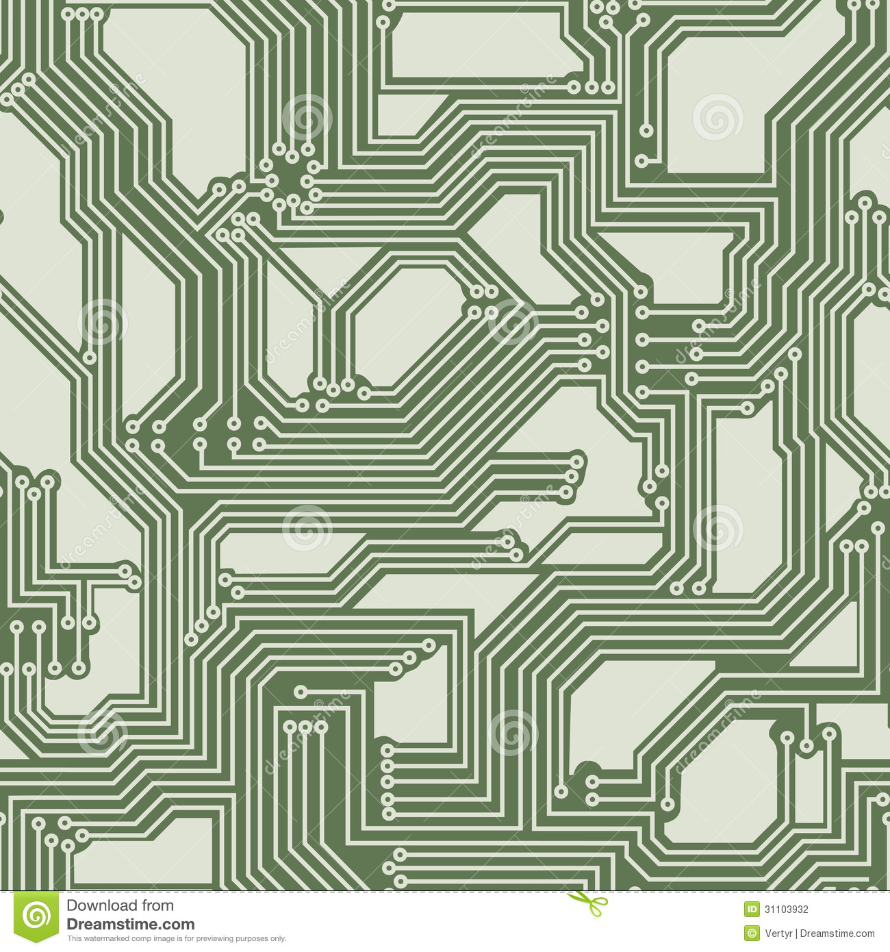 Seamless Background Of Electrical Circuit Board. Illustration ...