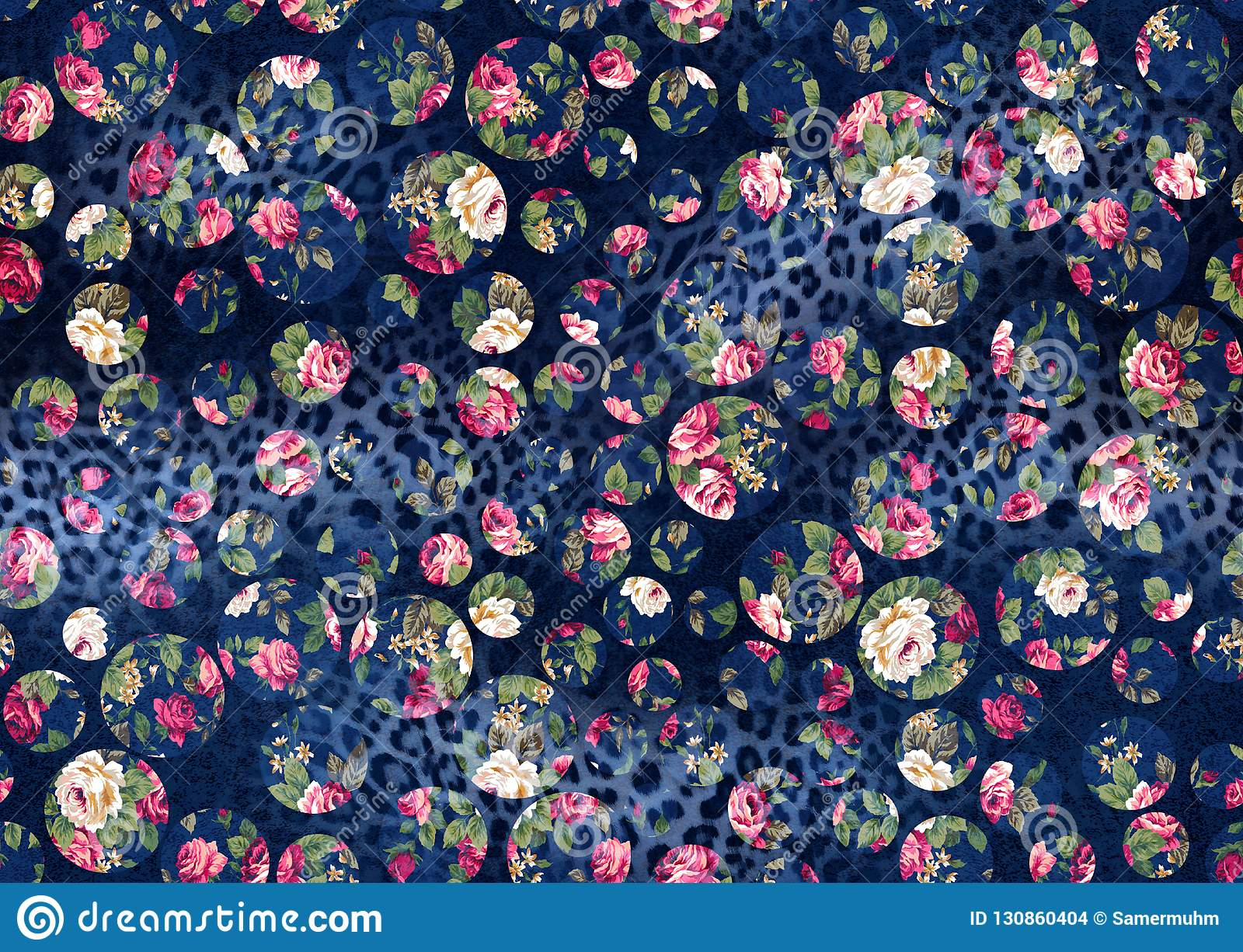 Seamless Background From A Floral Ornament Fashionable